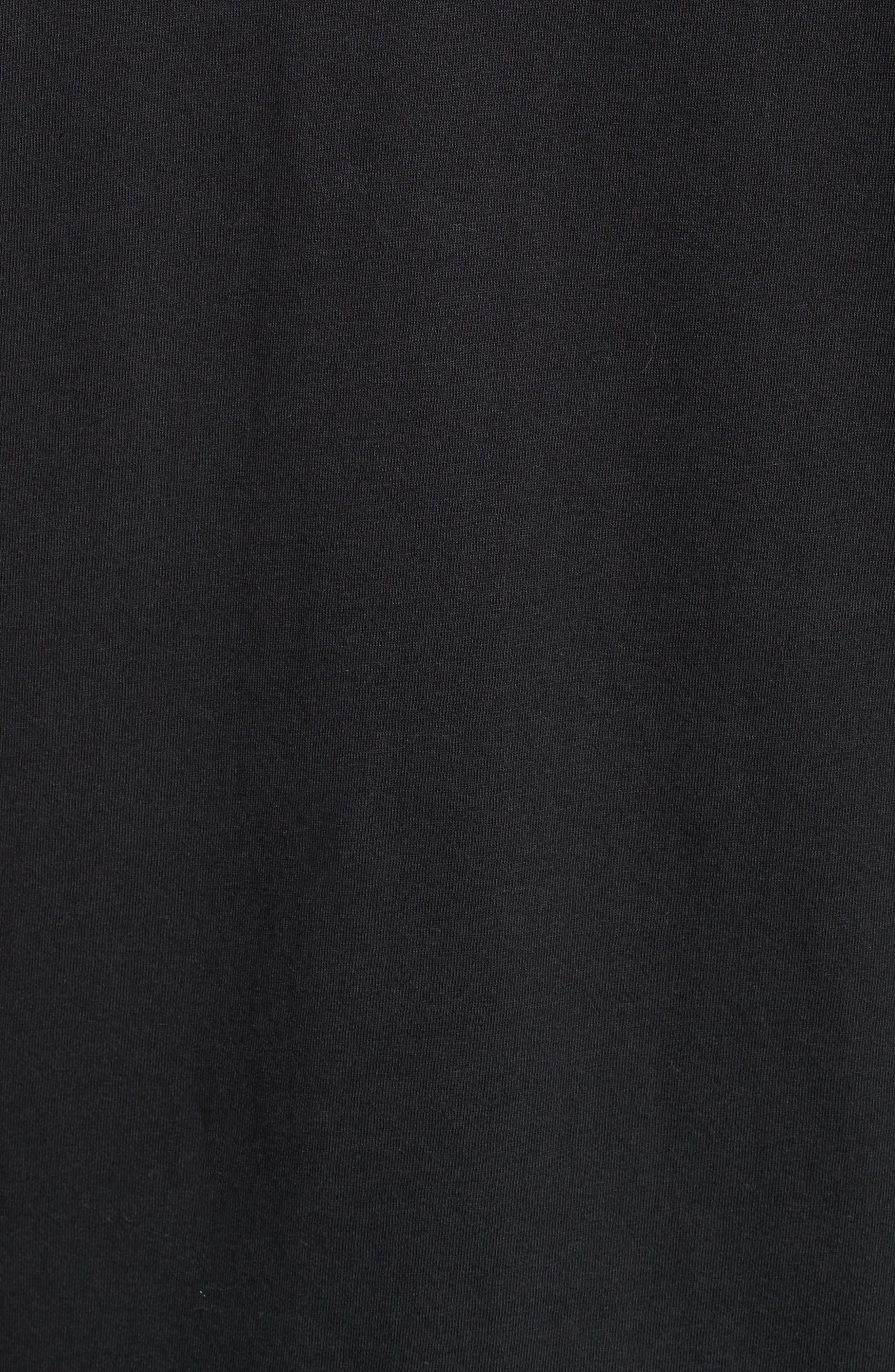 Silkscreen Finish T-Shirt,                             Alternate thumbnail 5, color,                             Black