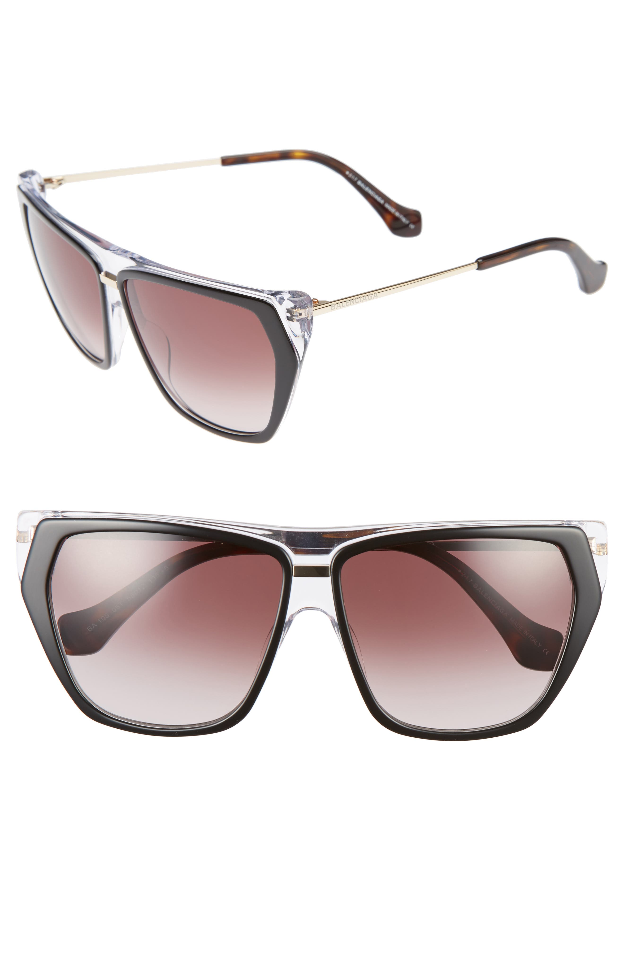 Alternate Image 1 Selected - Balenciaga 58mm Gradient Sunglasses