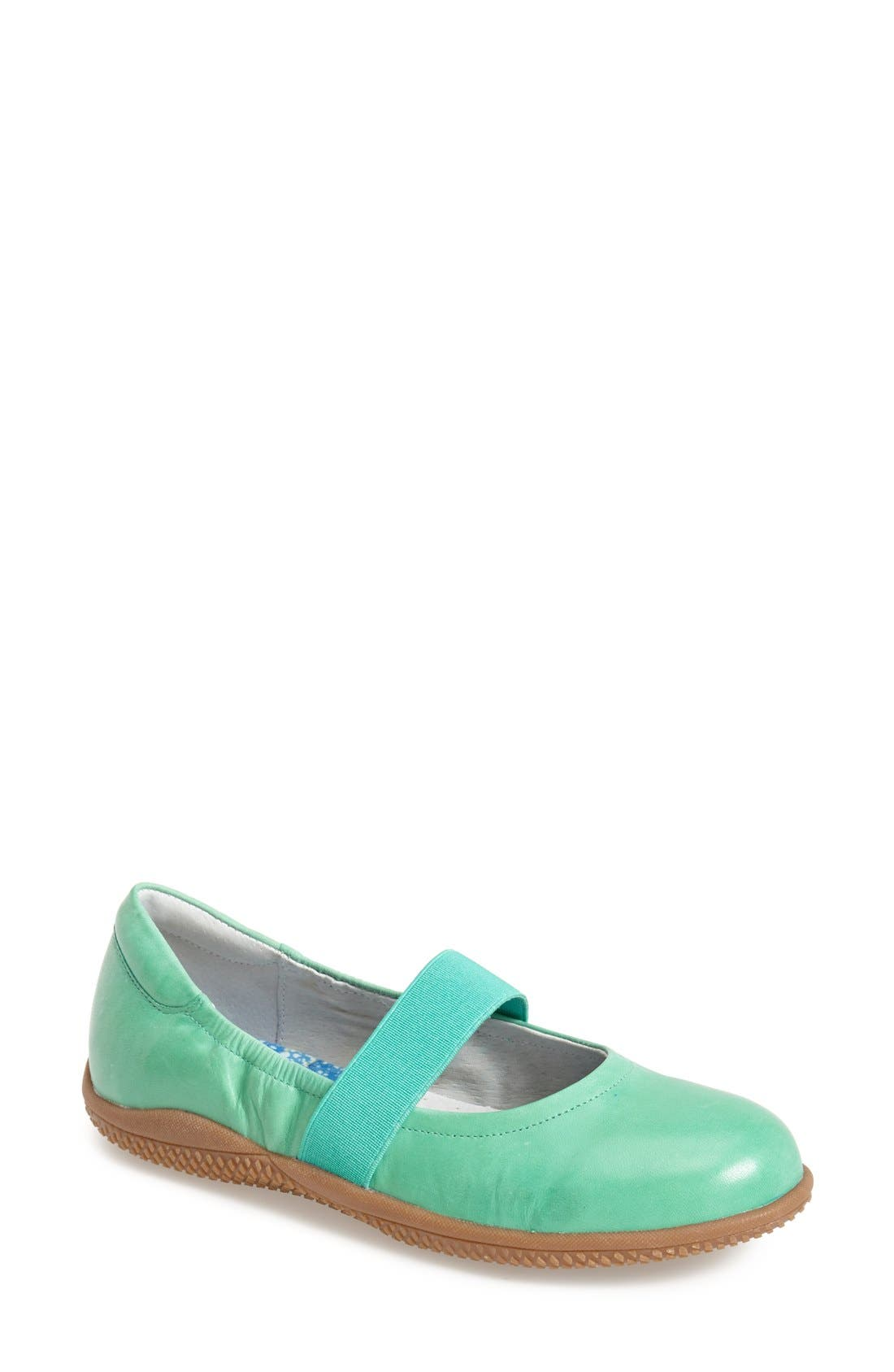 'High Point' Mary Jane Flat,                         Main,                         color, Jade