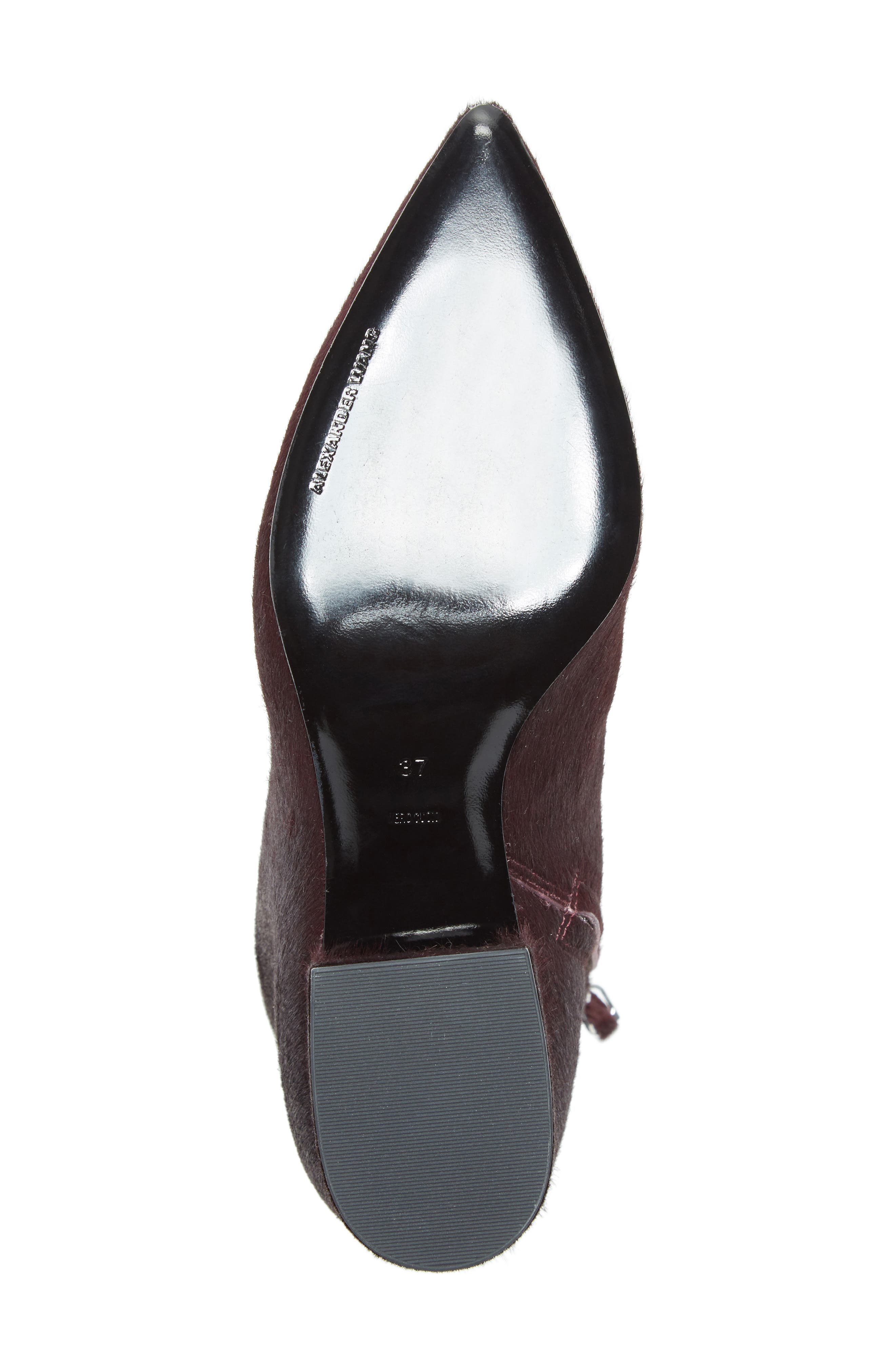 Jude Genuine Calf Hair Bootie,                             Alternate thumbnail 6, color,                             Burgundy Leather