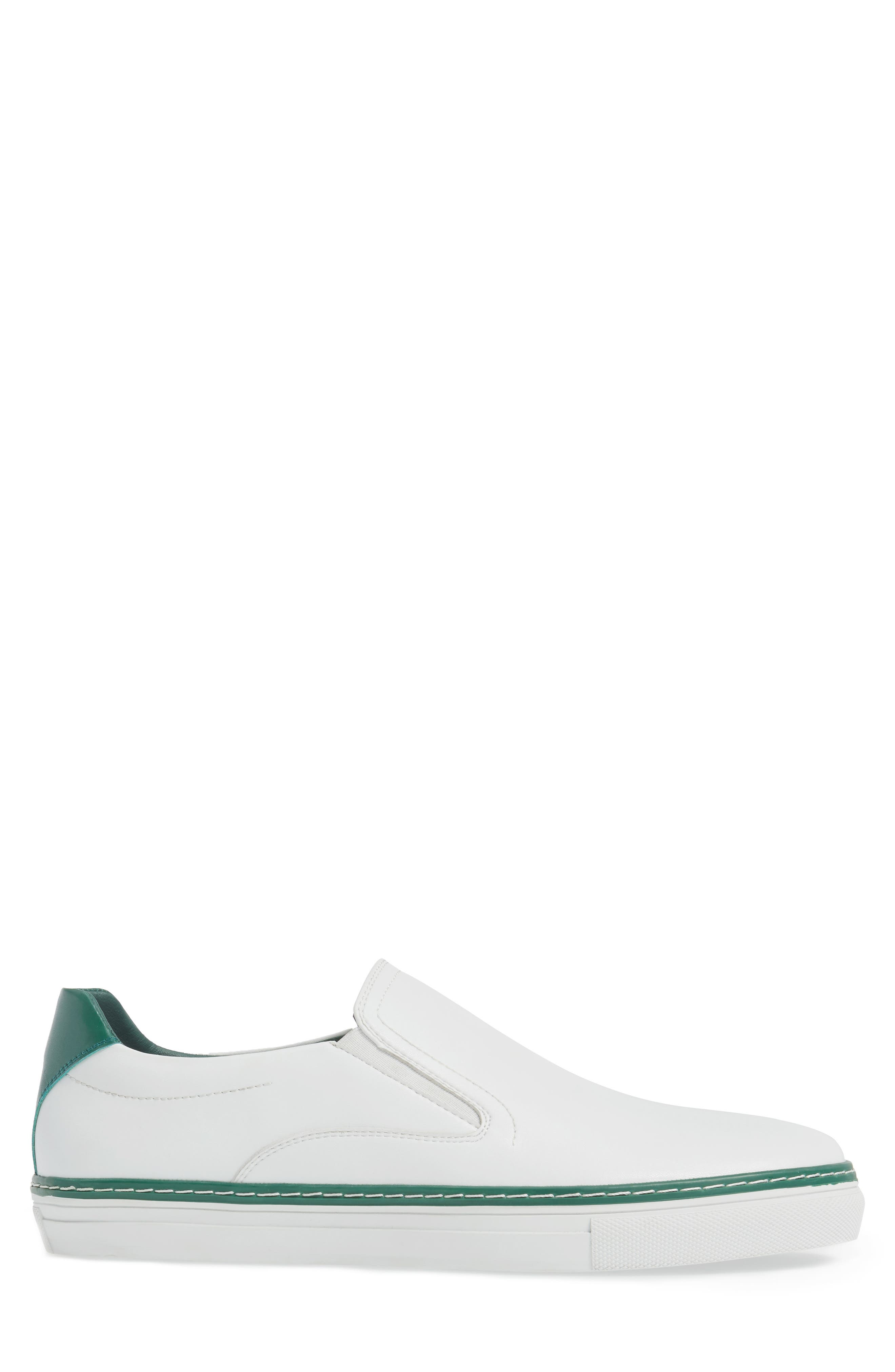 Dollis Slip-On,                             Alternate thumbnail 3, color,                             White Leather