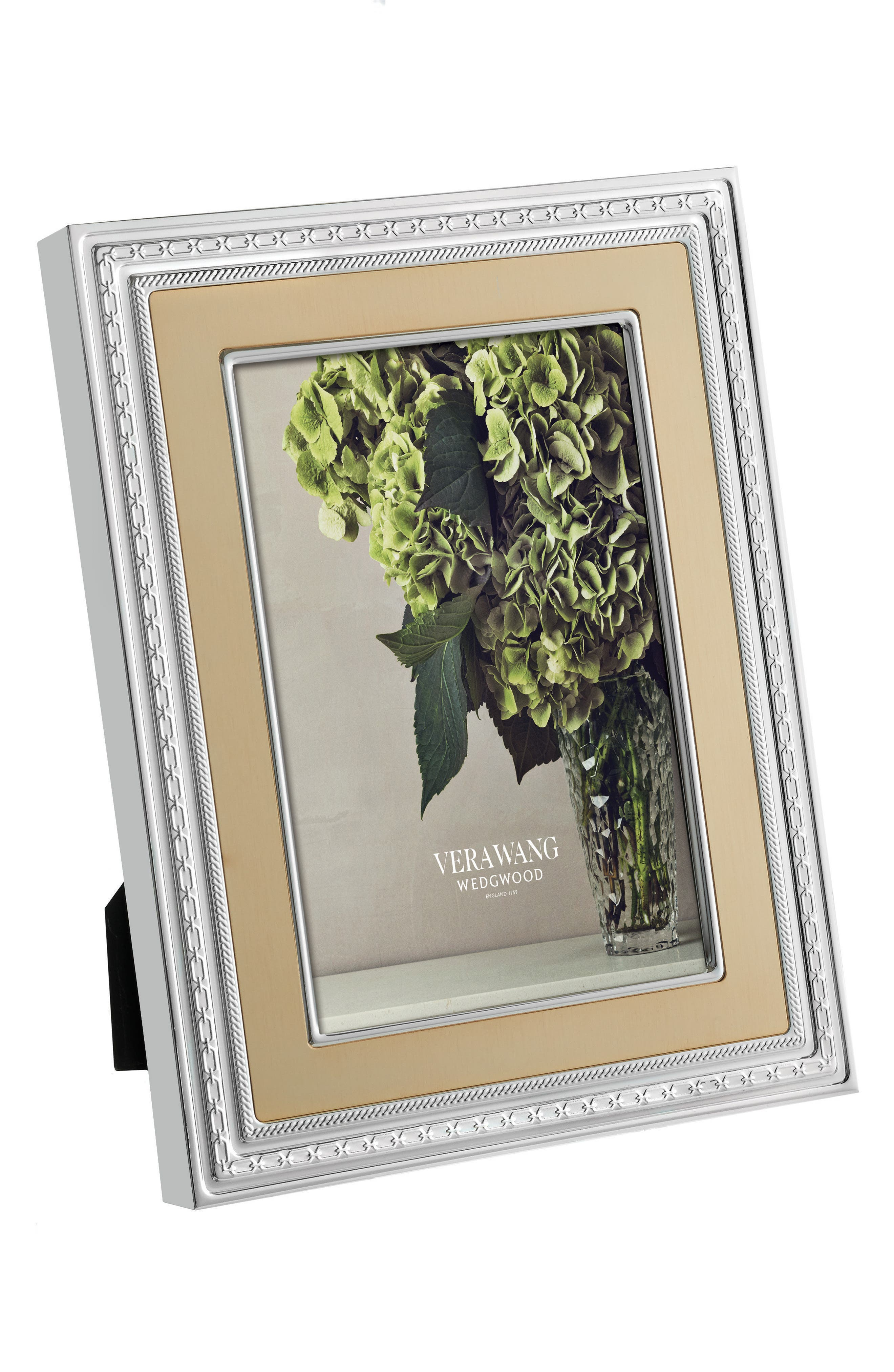 x Wedgwood With Love Picture Frame,                             Main thumbnail 1, color,                             Metallic Silver