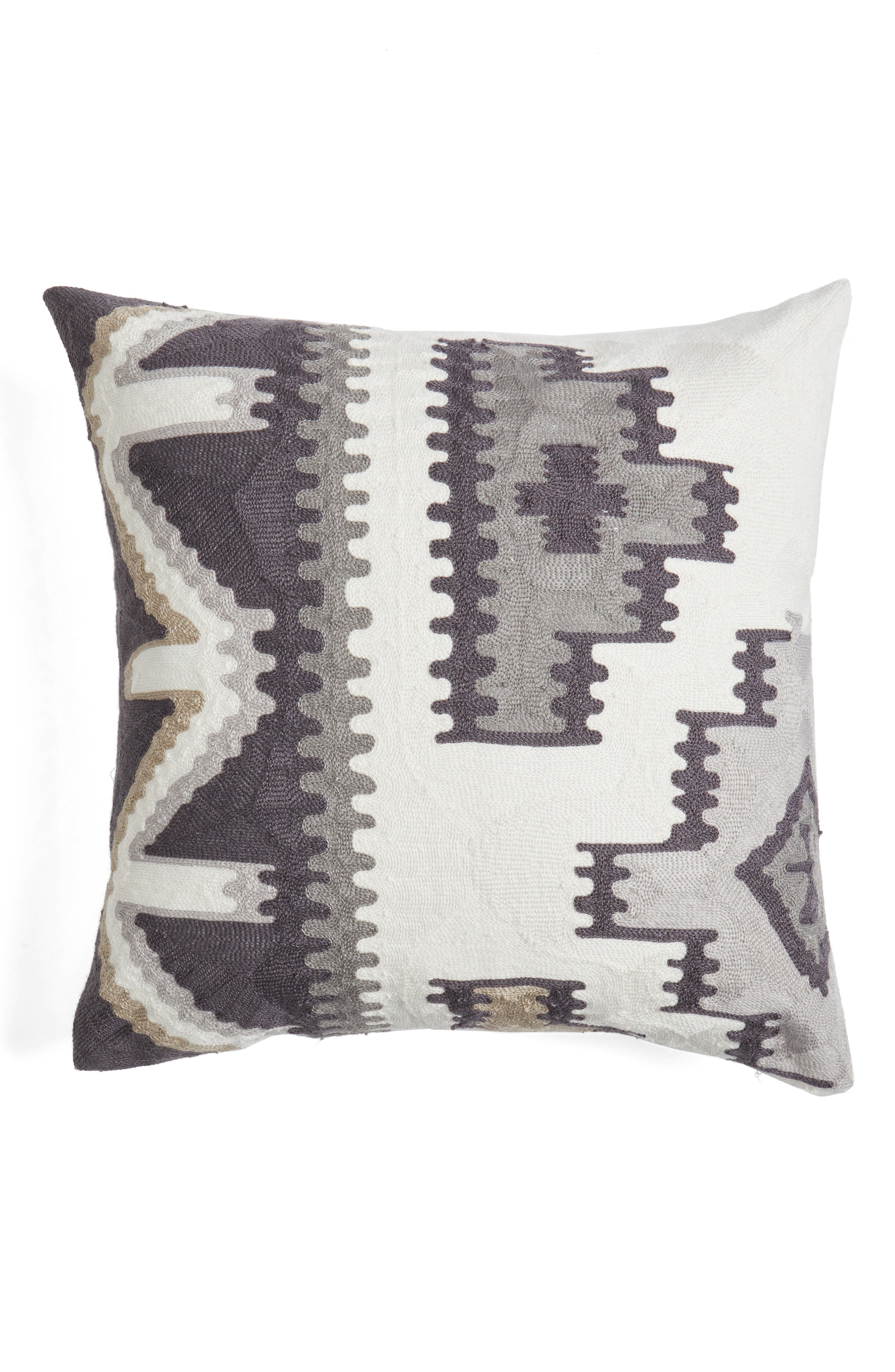 Matmi Towel Stitch Accent Pillow,                         Main,                         color, Grey
