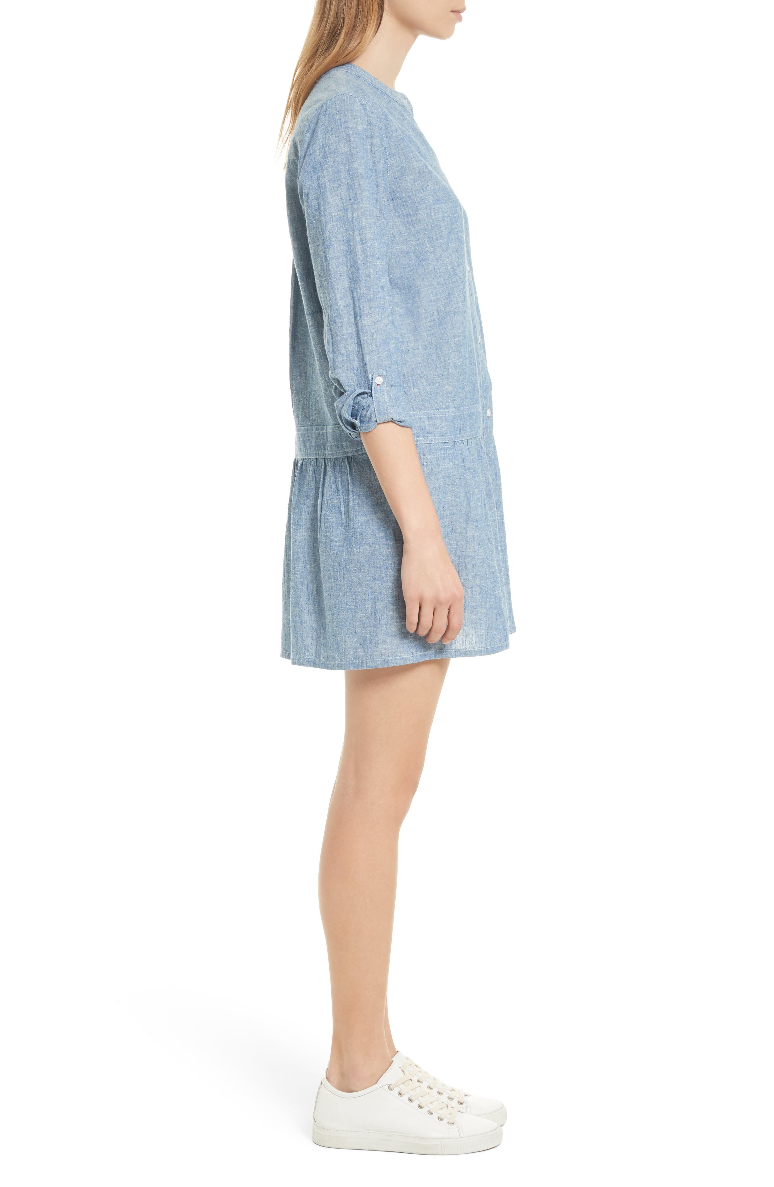 Alternate Image 4  - Soft Joie Amiri Chambray Shirtdress