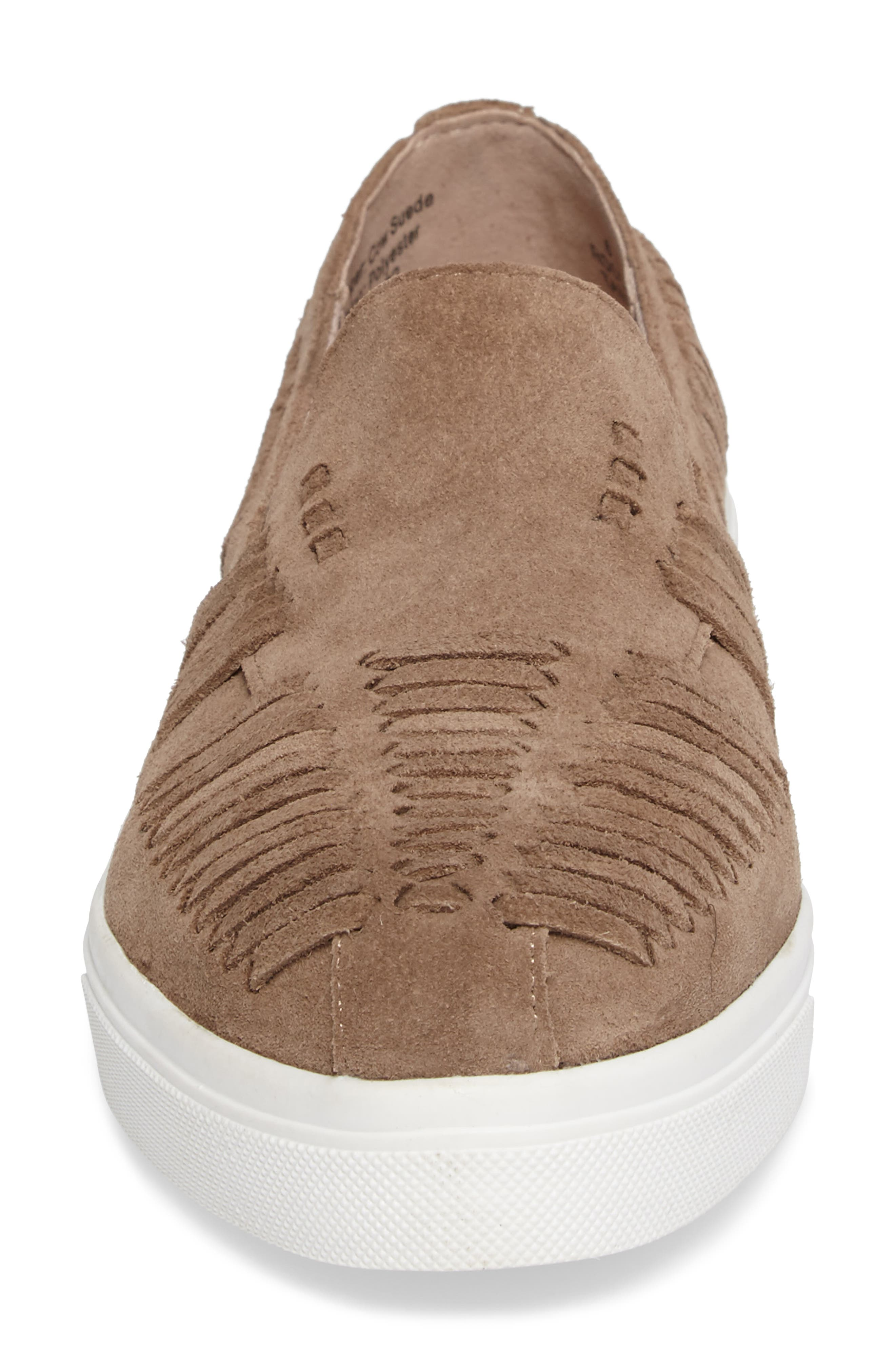 Rocco Woven Slip-On Sneaker,                             Alternate thumbnail 4, color,                             Taupe Suede