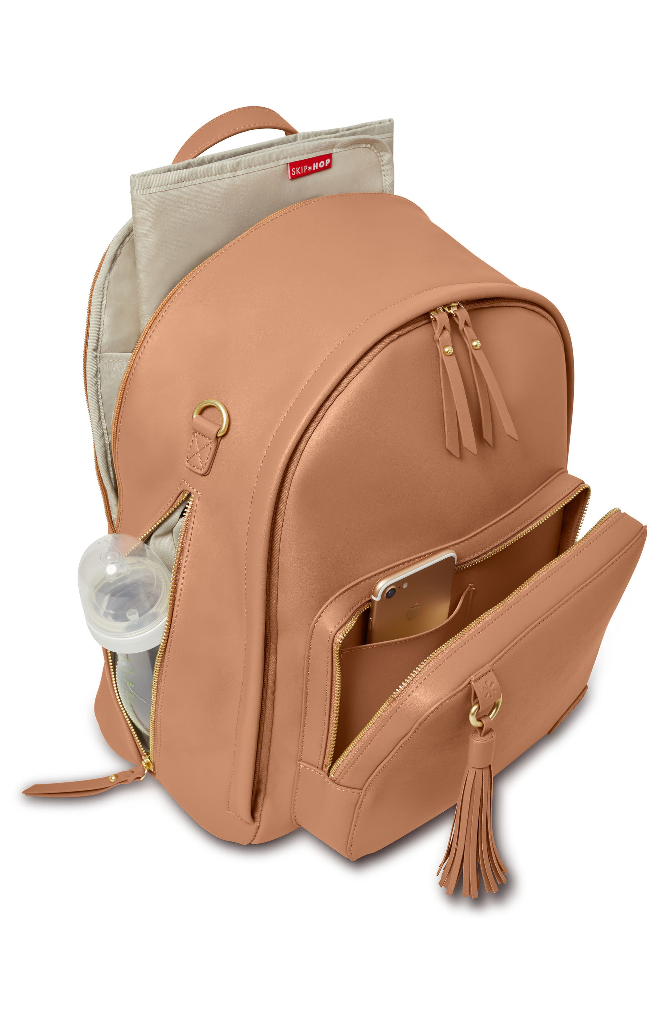 Alternate Image 4  - Skip Hop Greenwich Simply Chic Diaper Backpack