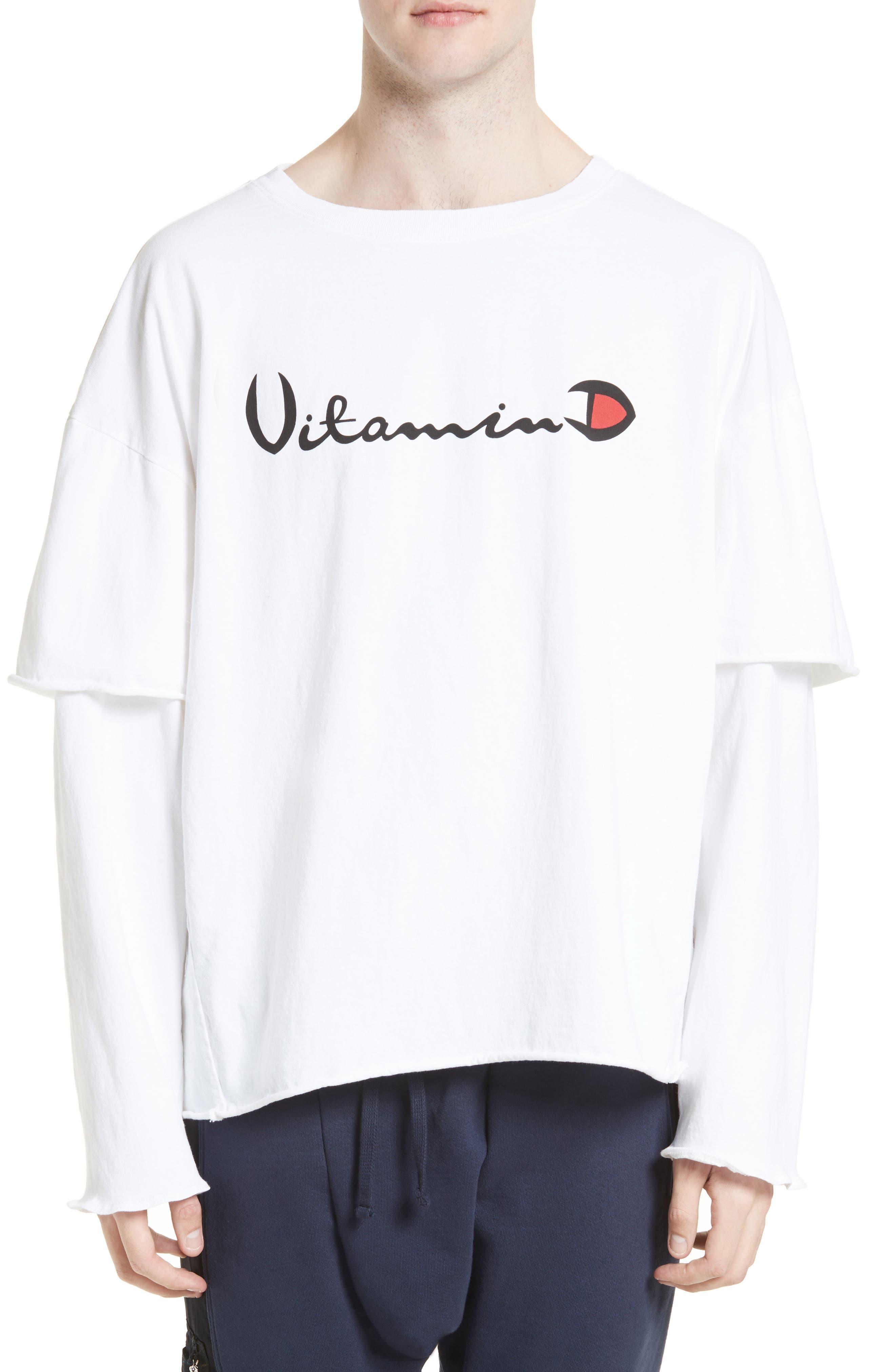 Filius Vitamin D Graphic T-Shirt,                             Main thumbnail 1, color,                             White