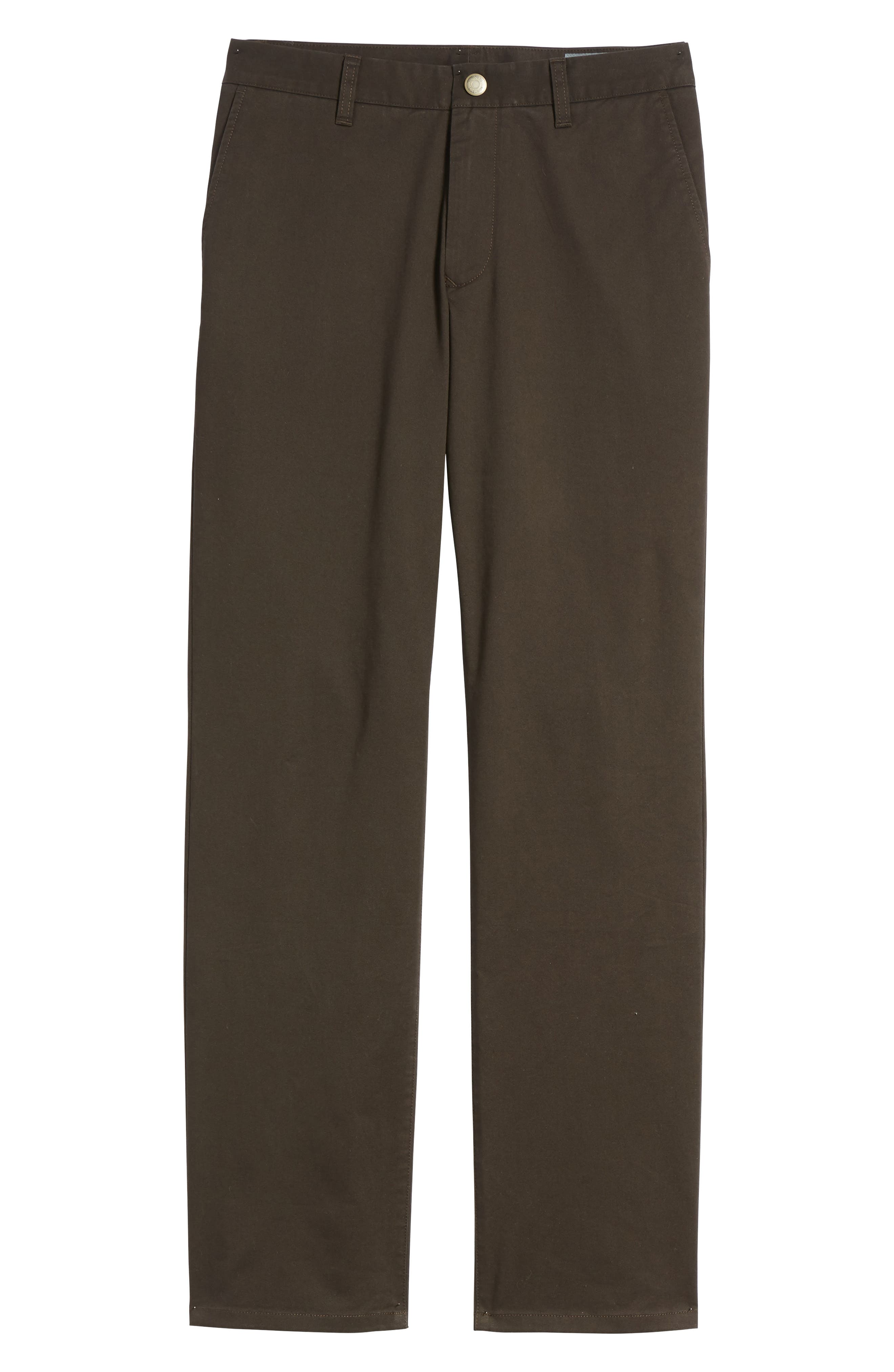 Straight Leg Stretch Washed Chinos,                             Alternate thumbnail 6, color,                             Chocolate Ale