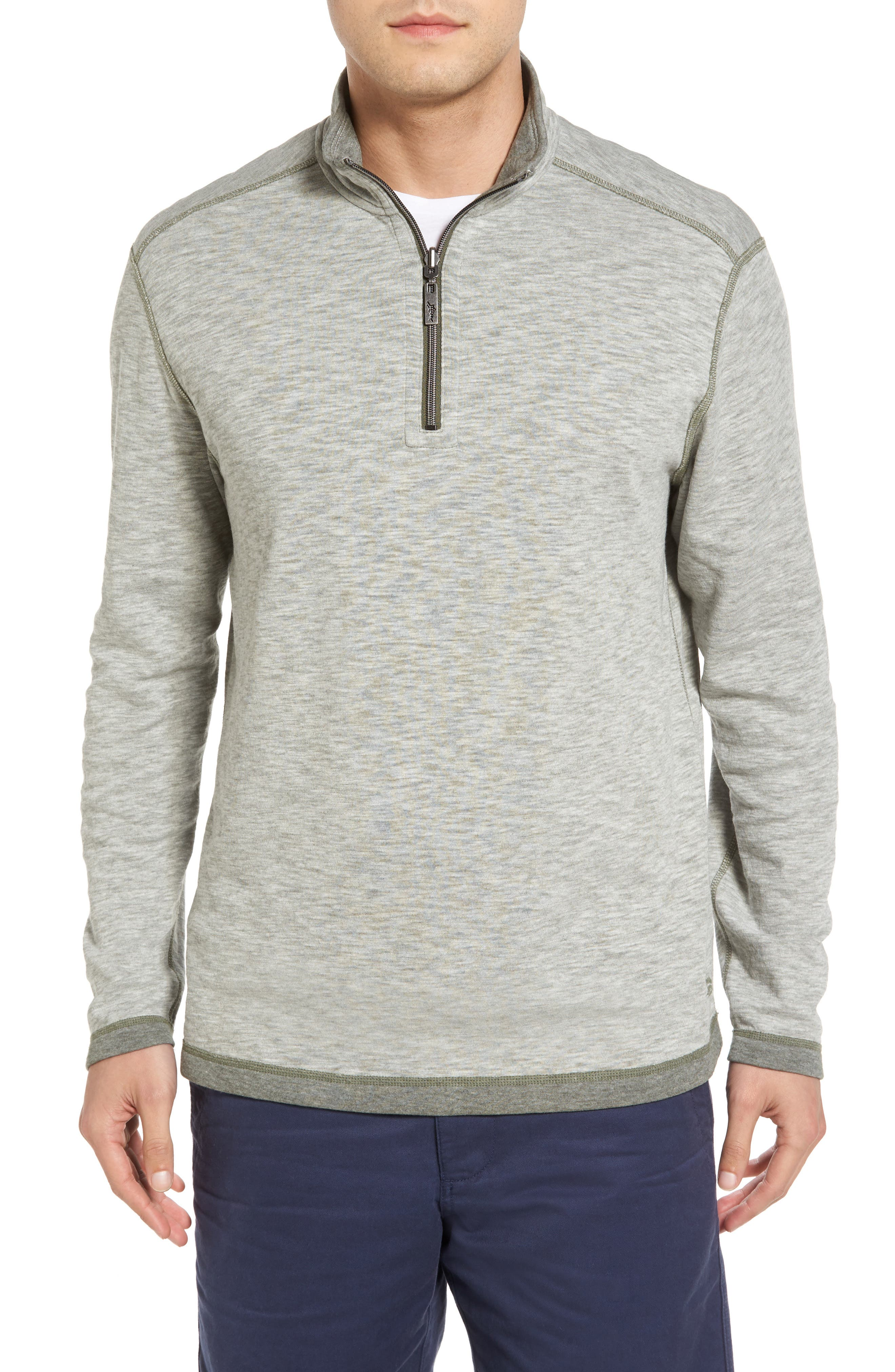 Alternate Image 1 Selected - Tommy Bahama Sea Glass Reversible Quarter Zip Pullover