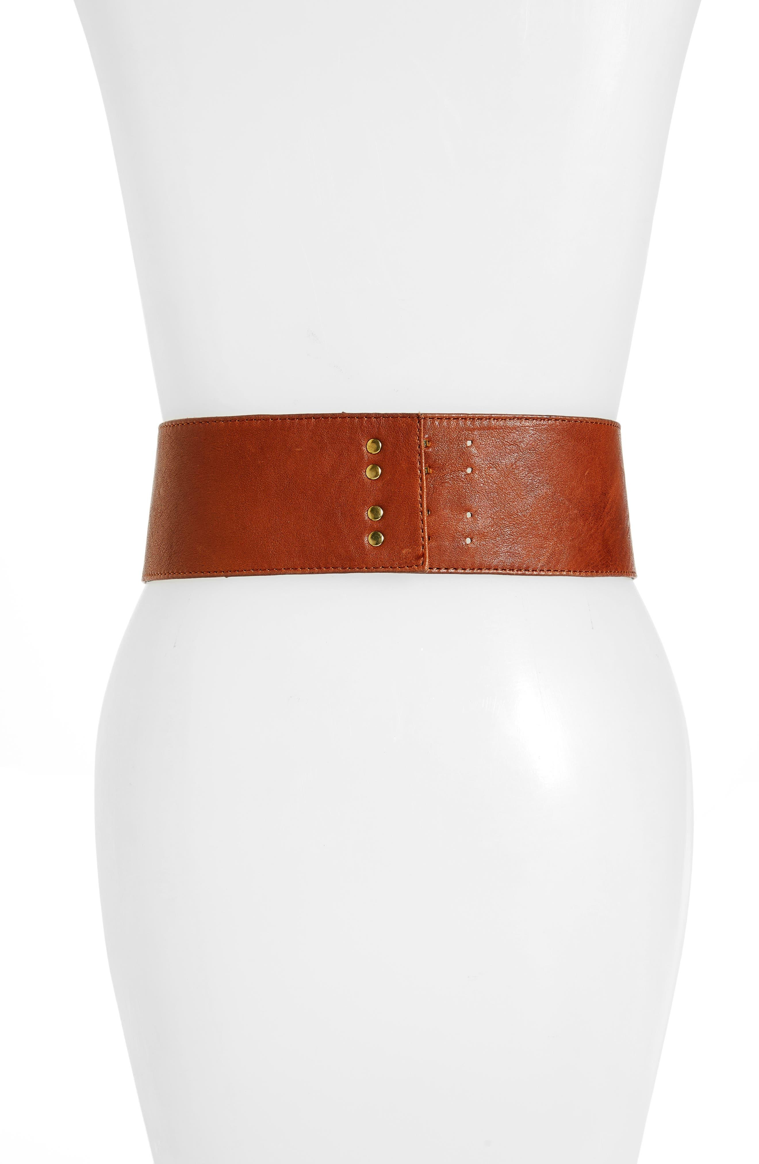 Alternate Image 2  - Raina Santiago Leather Corset Belt