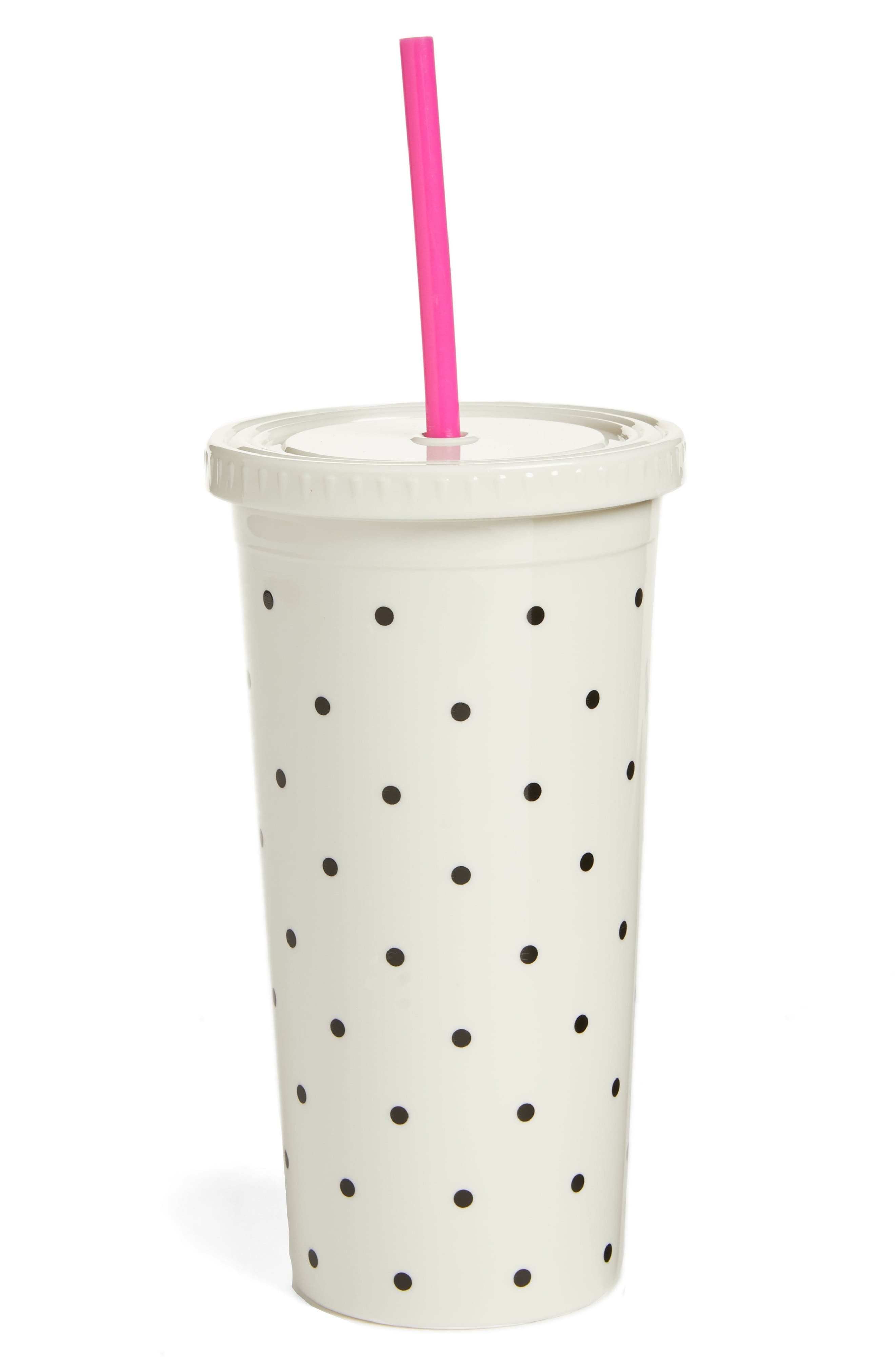 Alternate Image 1 Selected - kate spade new york polka dot insulated tumbler