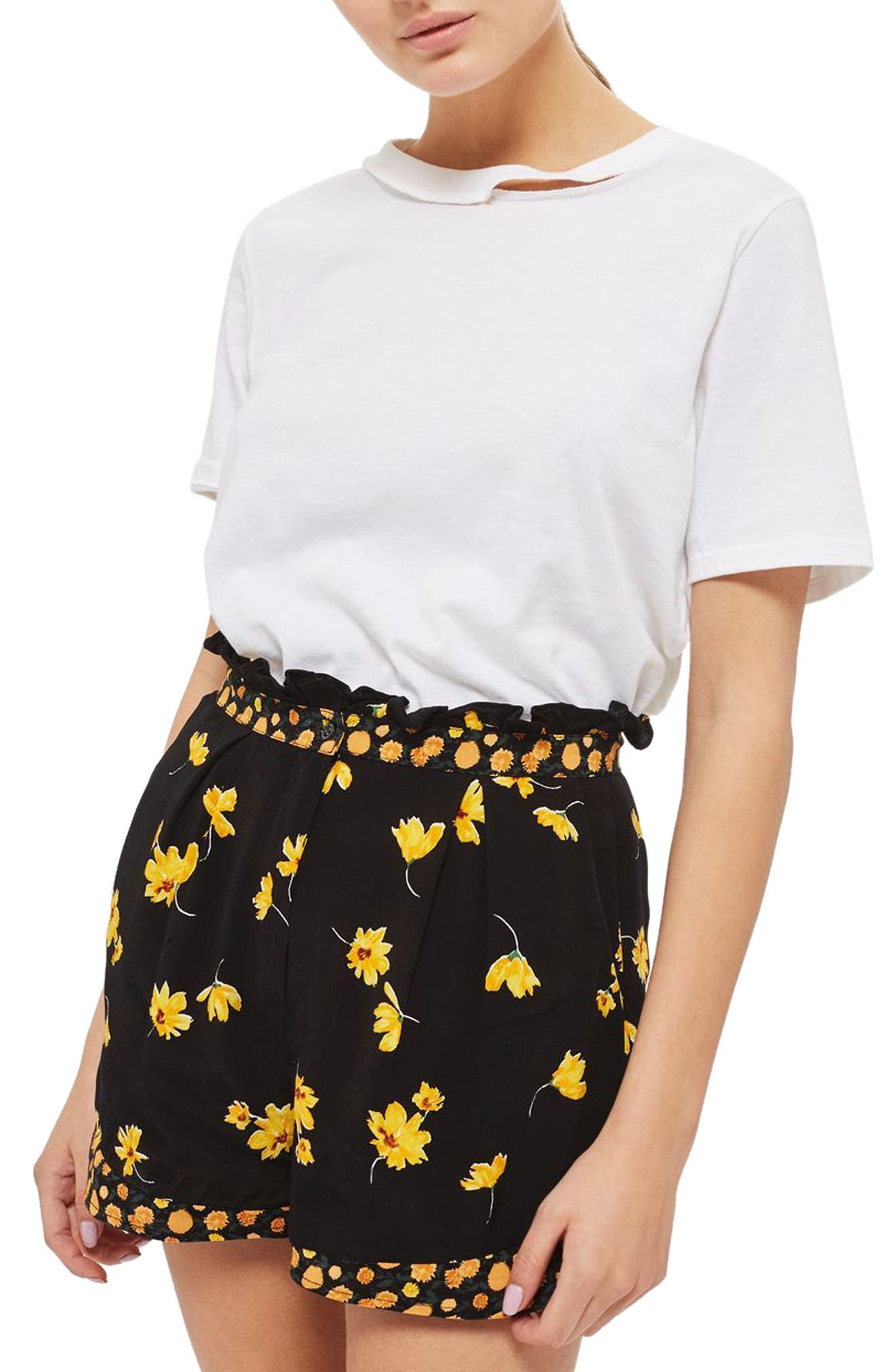 Topshop Floral Shorts (Regular & Petite)