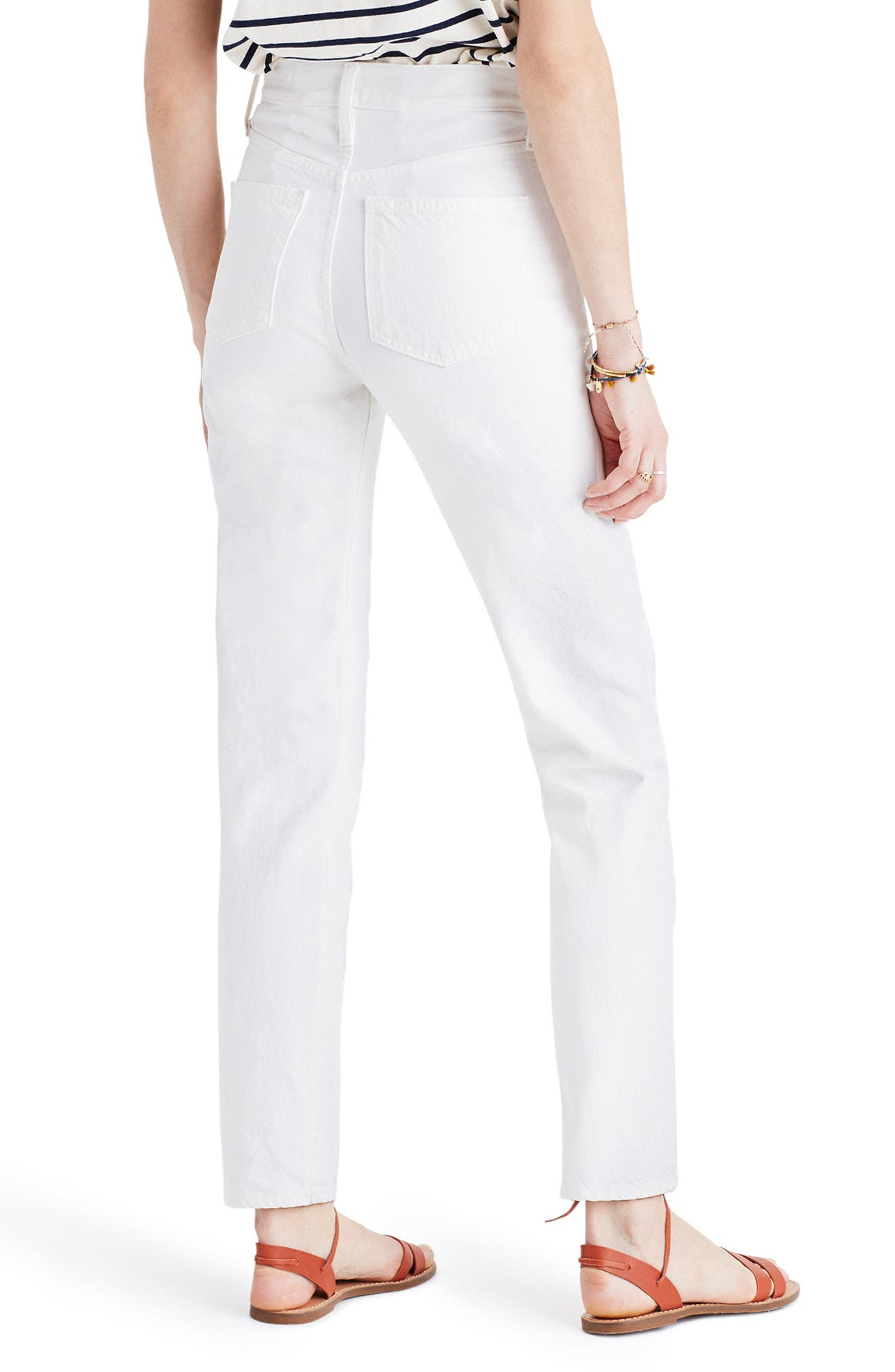 Alternate Image 2  - Madewell Perfect Summer High Waist Ankle Jeans (Tile White)