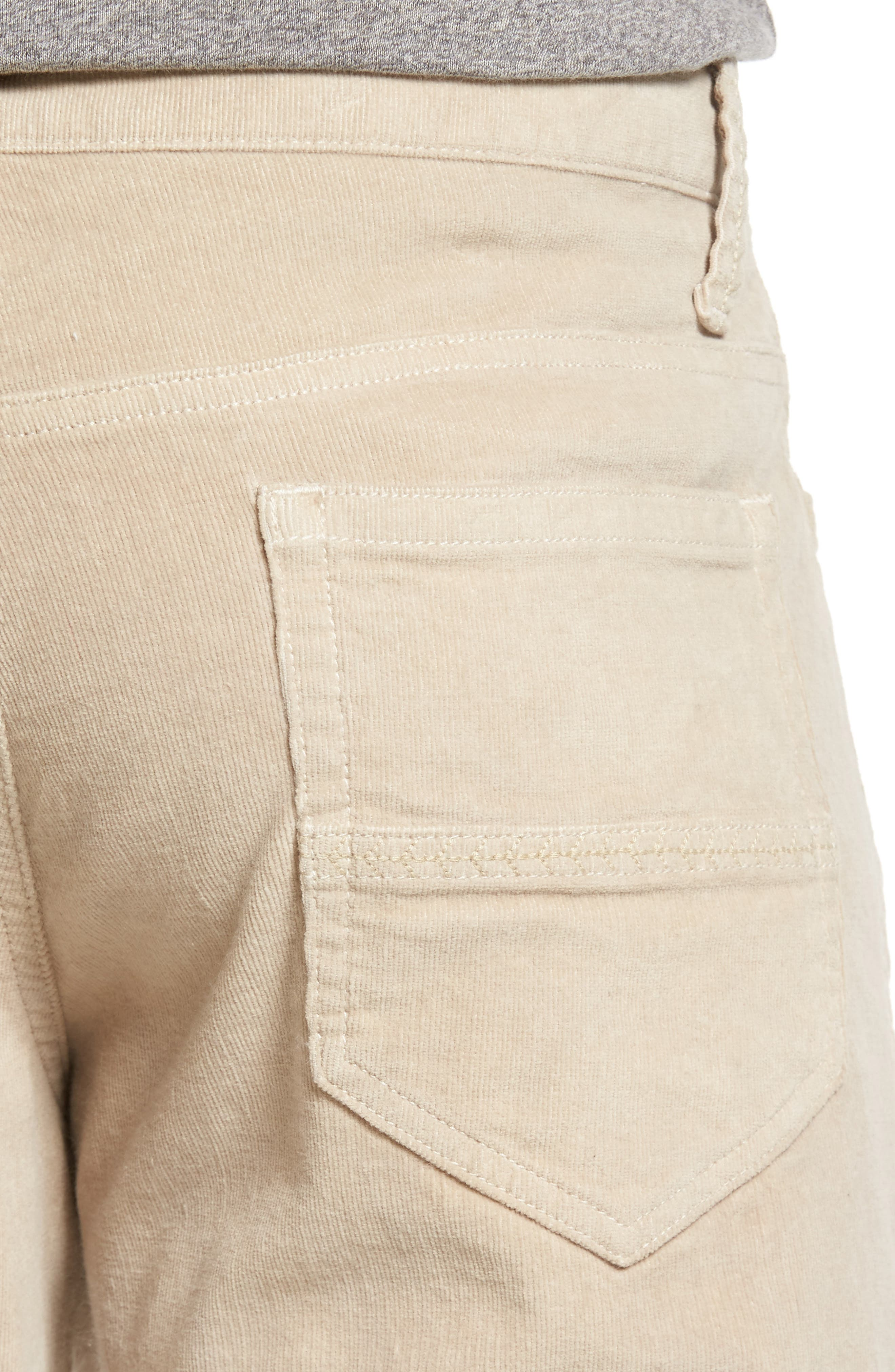Modern Fit Stretch Corduroy Pants,                             Alternate thumbnail 4, color,                             Oatmeal