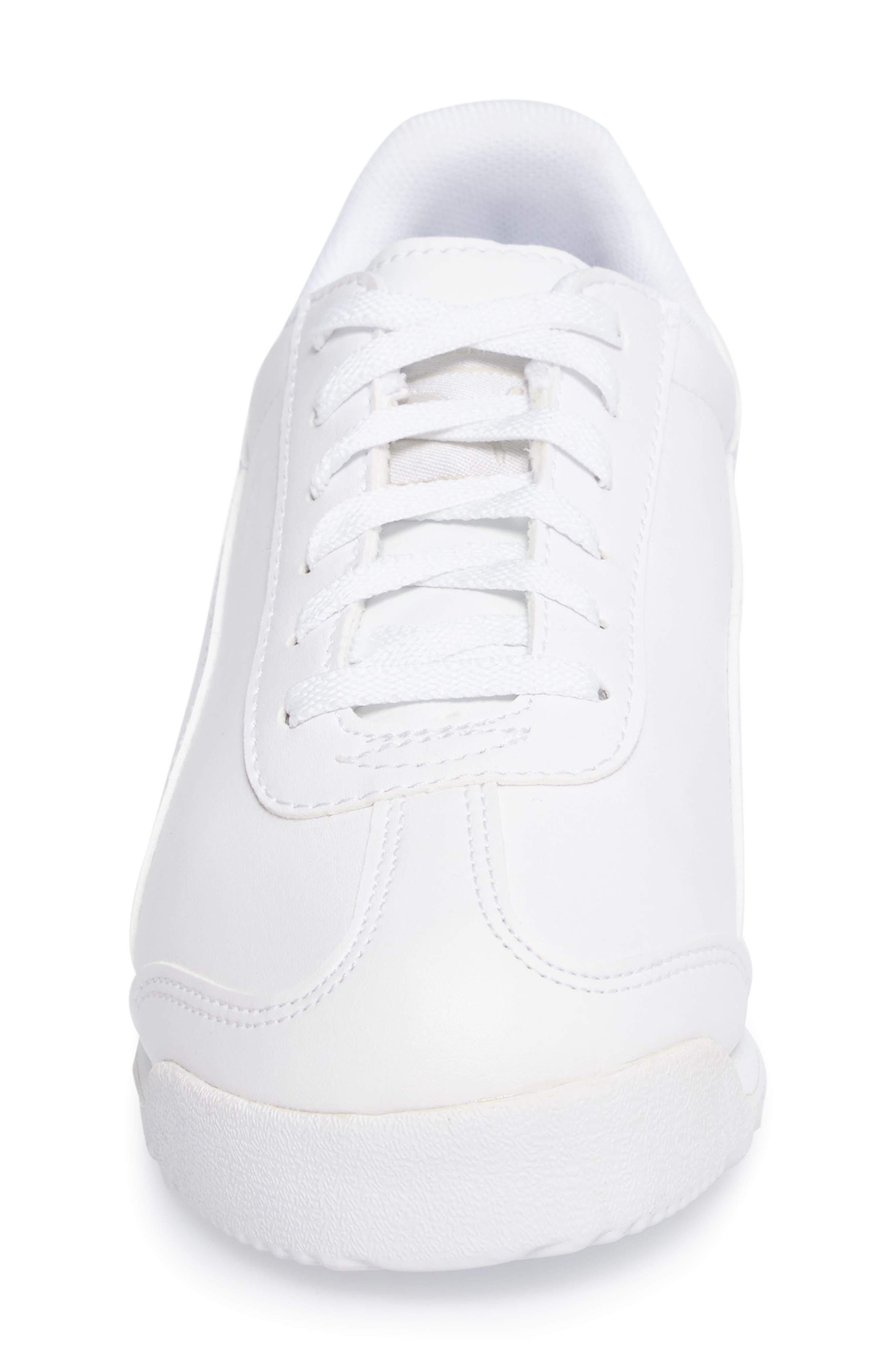 Roma Basic Sneaker,                             Alternate thumbnail 4, color,                             White/ Light Grey