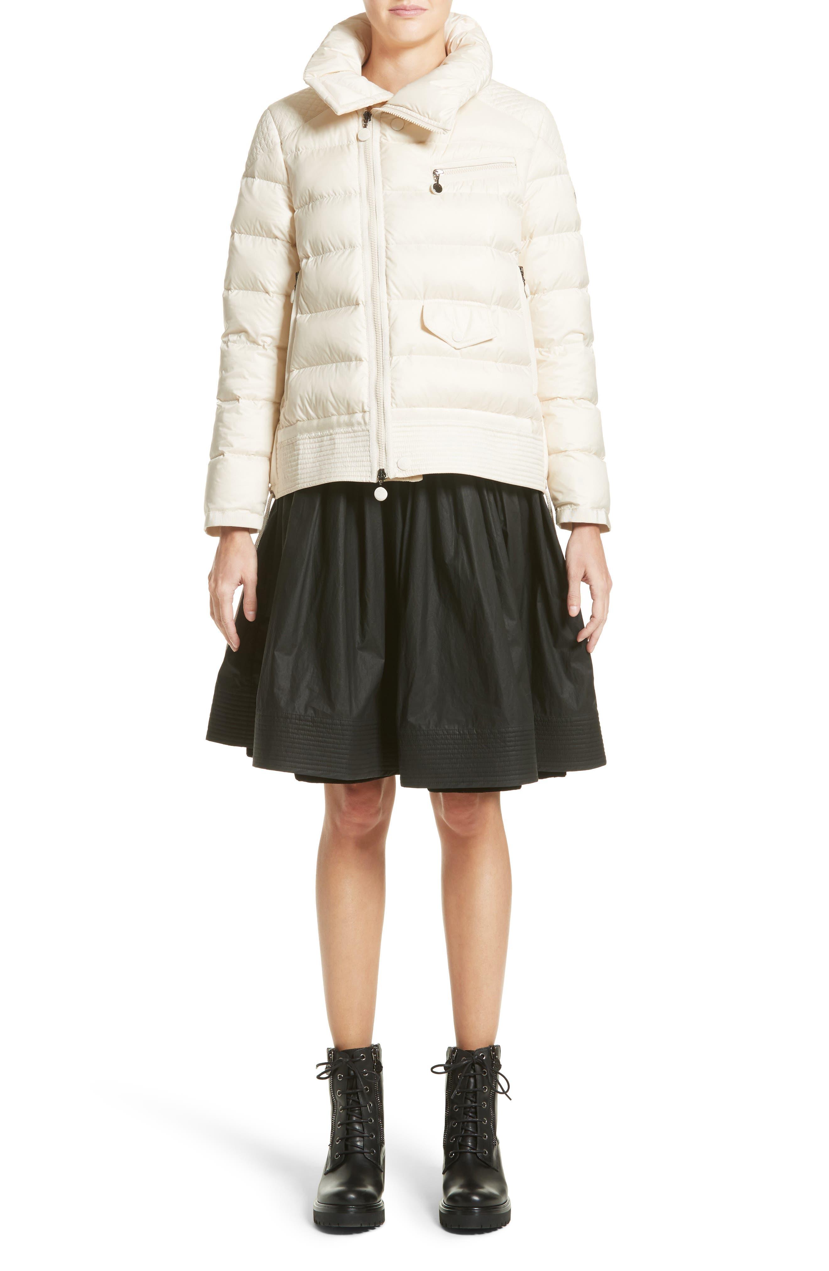 Alternate Image 6  - Moncler Gonna Cotton A-Line Skirt