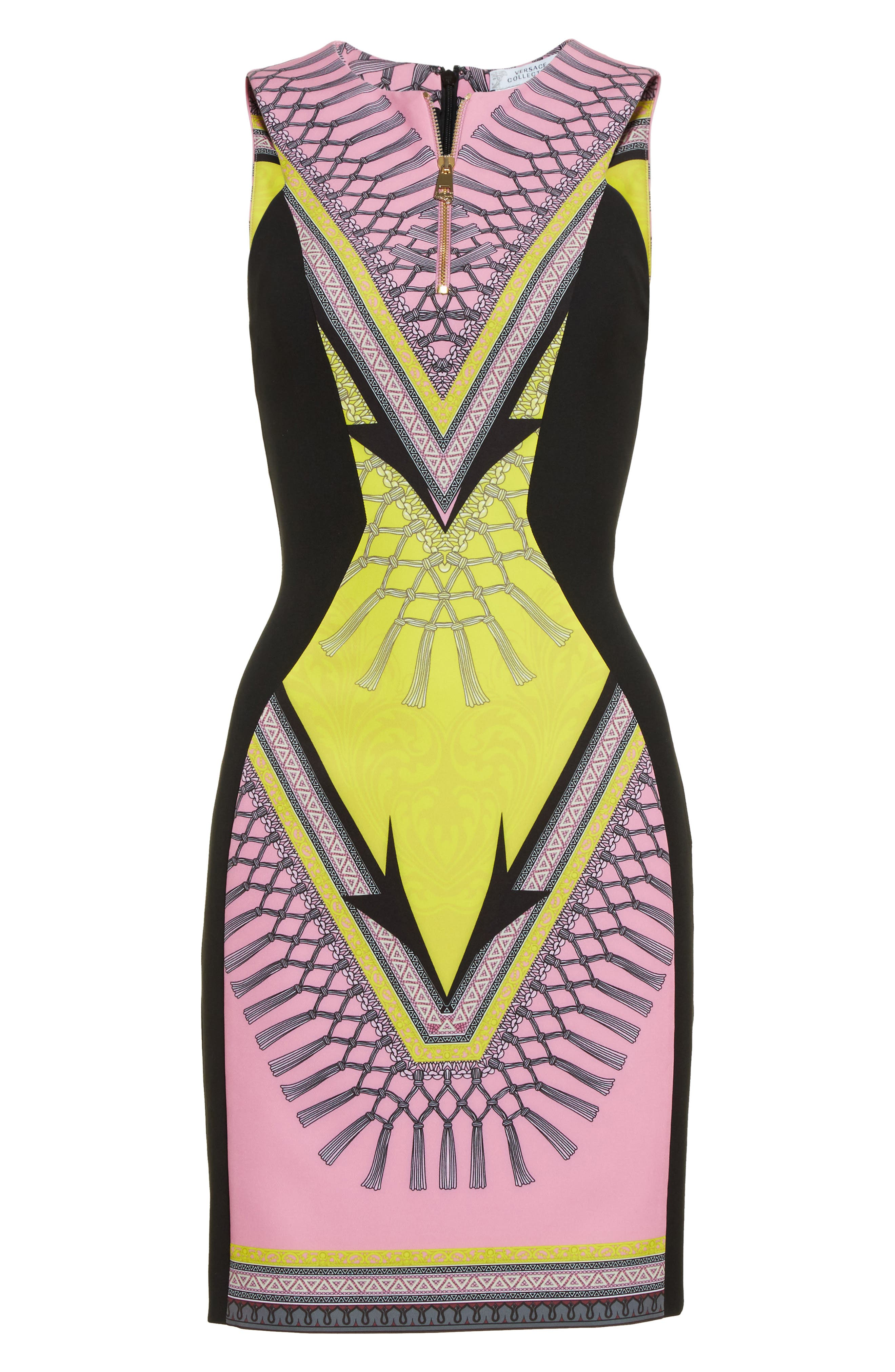 Alternate Image 4  - Versace Collection Scarf Print Stretch Cady Dress