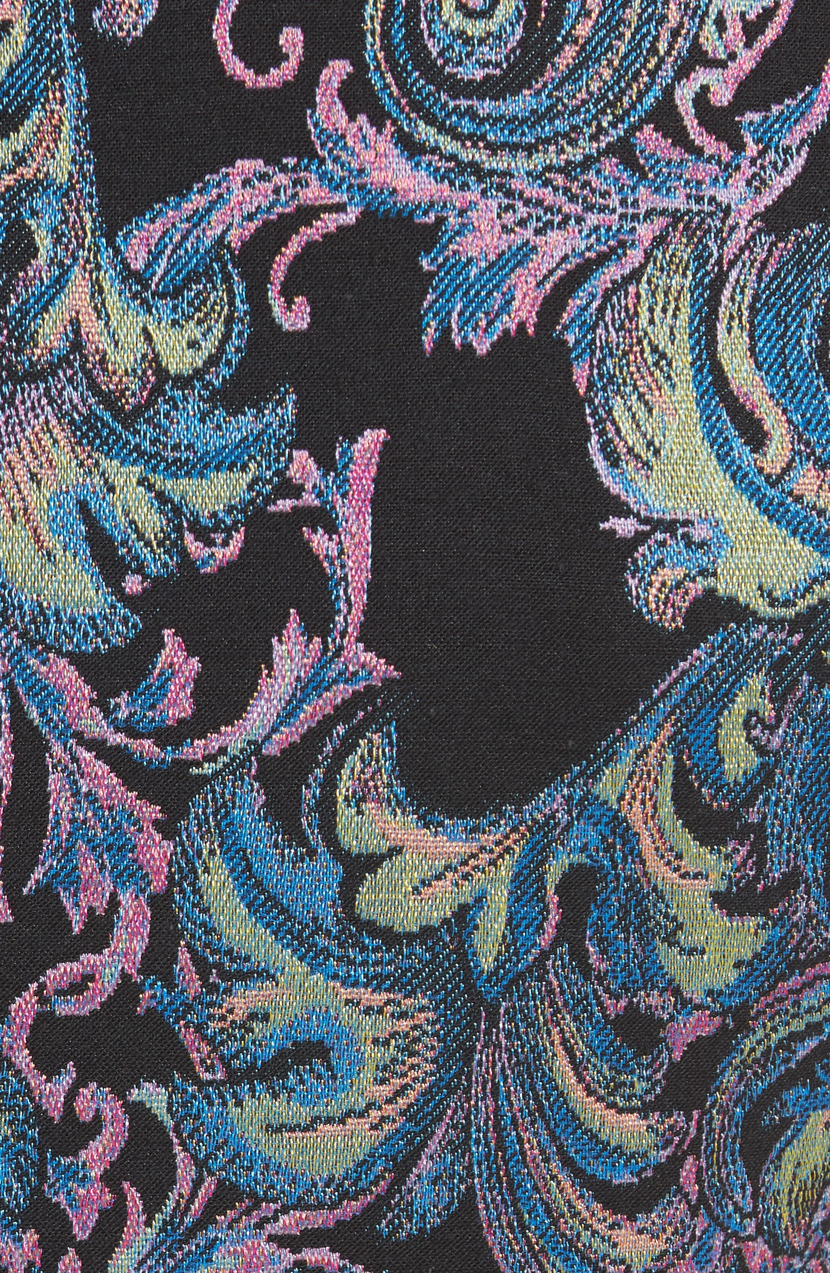Collection Jacquard Sheath Dress,                             Alternate thumbnail 3, color,                             Black Multi