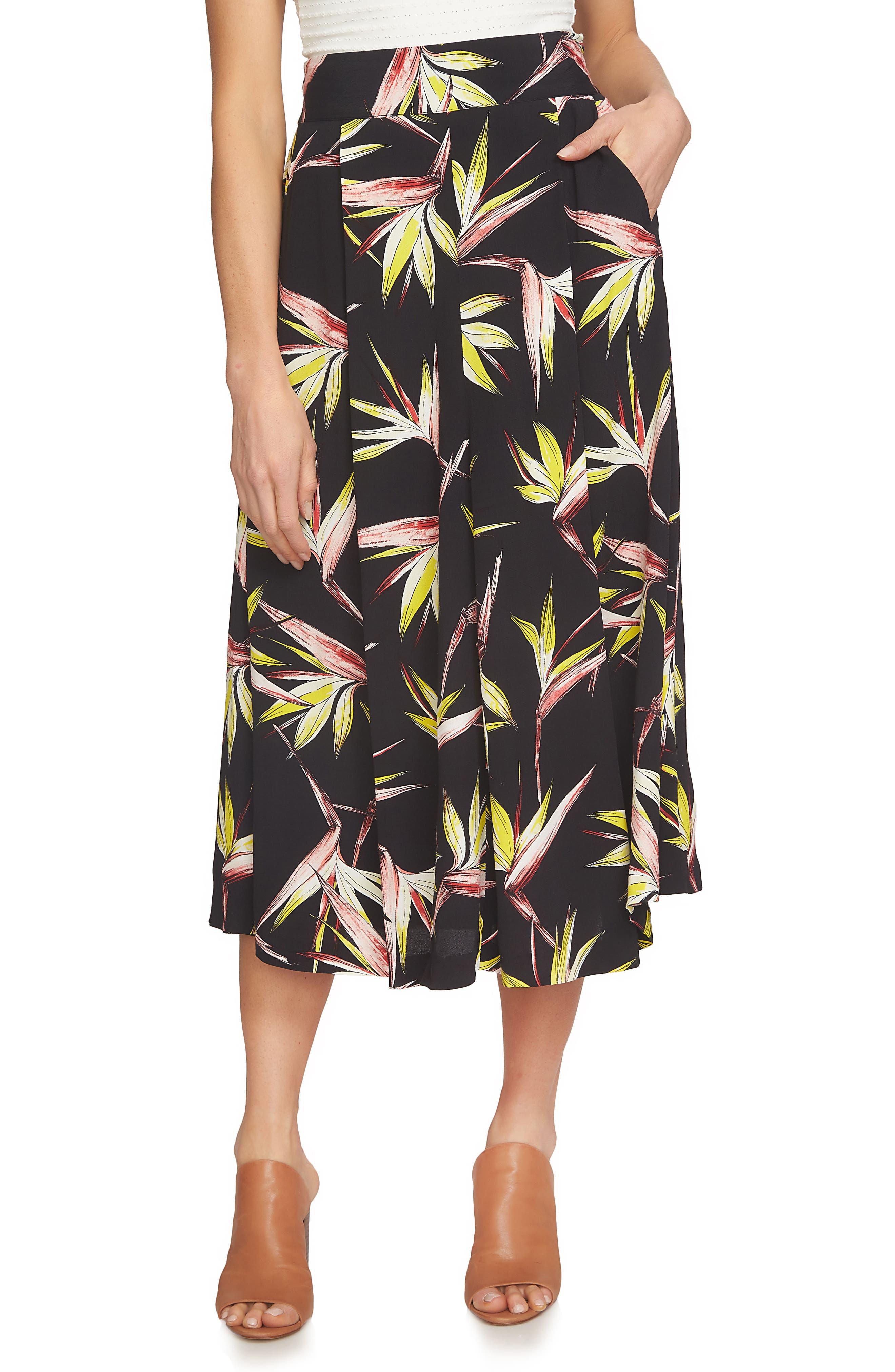 Alternate Image 1 Selected - 1.STATE High Waist Midi Skirt