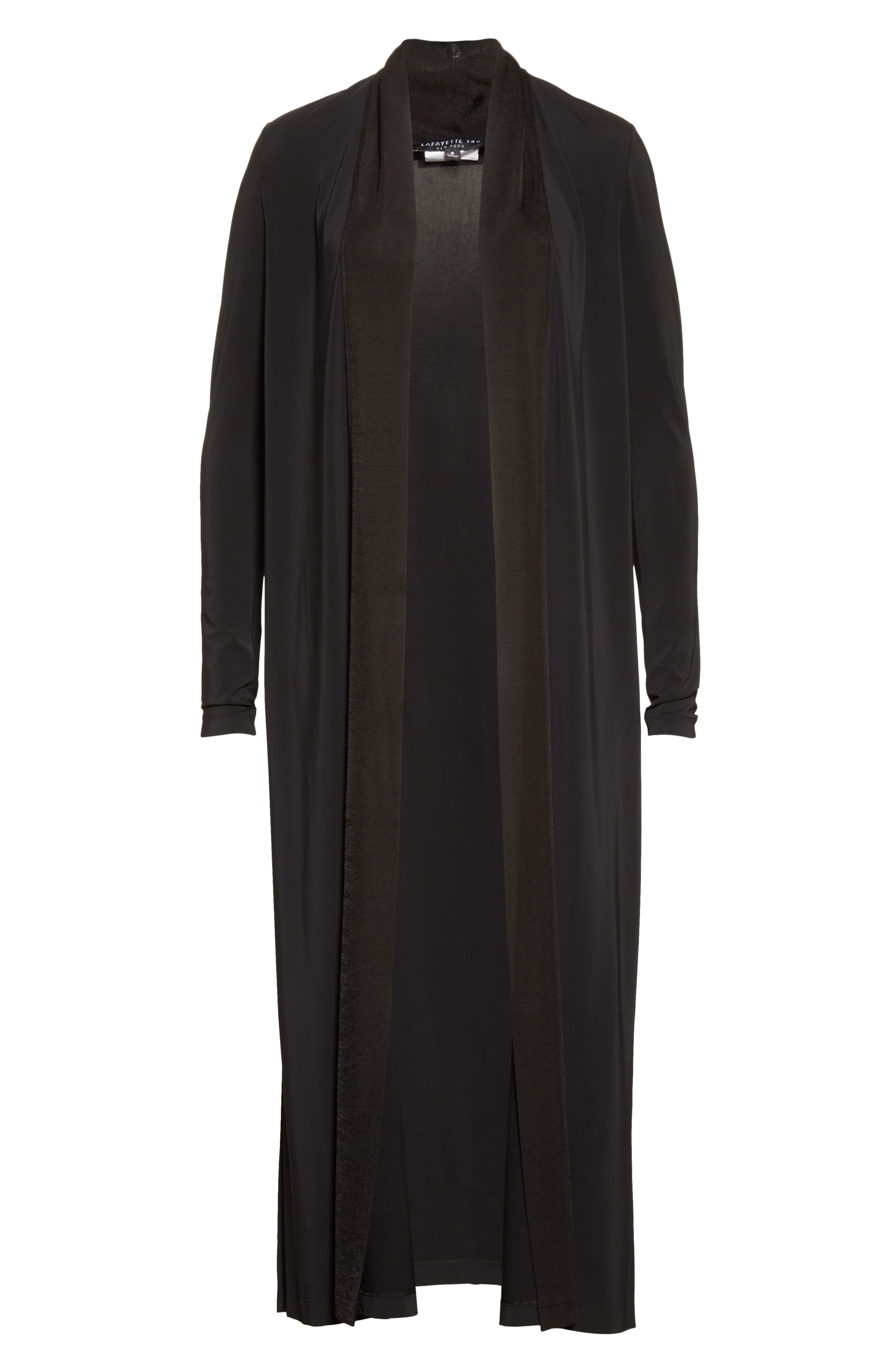 Alternate Image 4  - Lafayette 148 New York Cultivated Crepe Jersey Duster