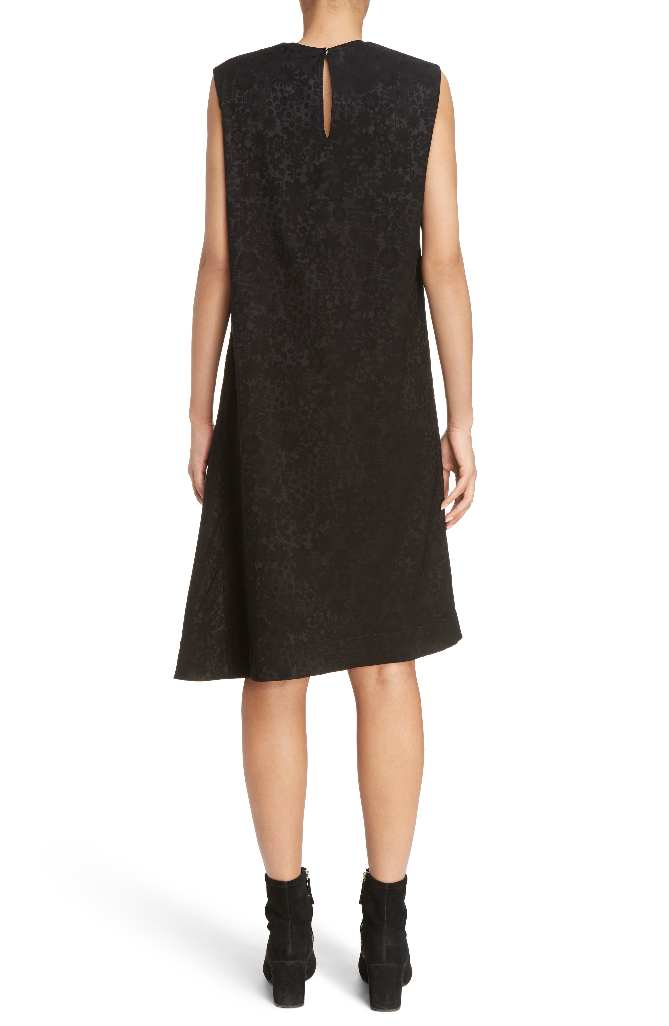 Danya Floral Asymmetrical Hem Dress,                             Alternate thumbnail 2, color,                             Black Floral