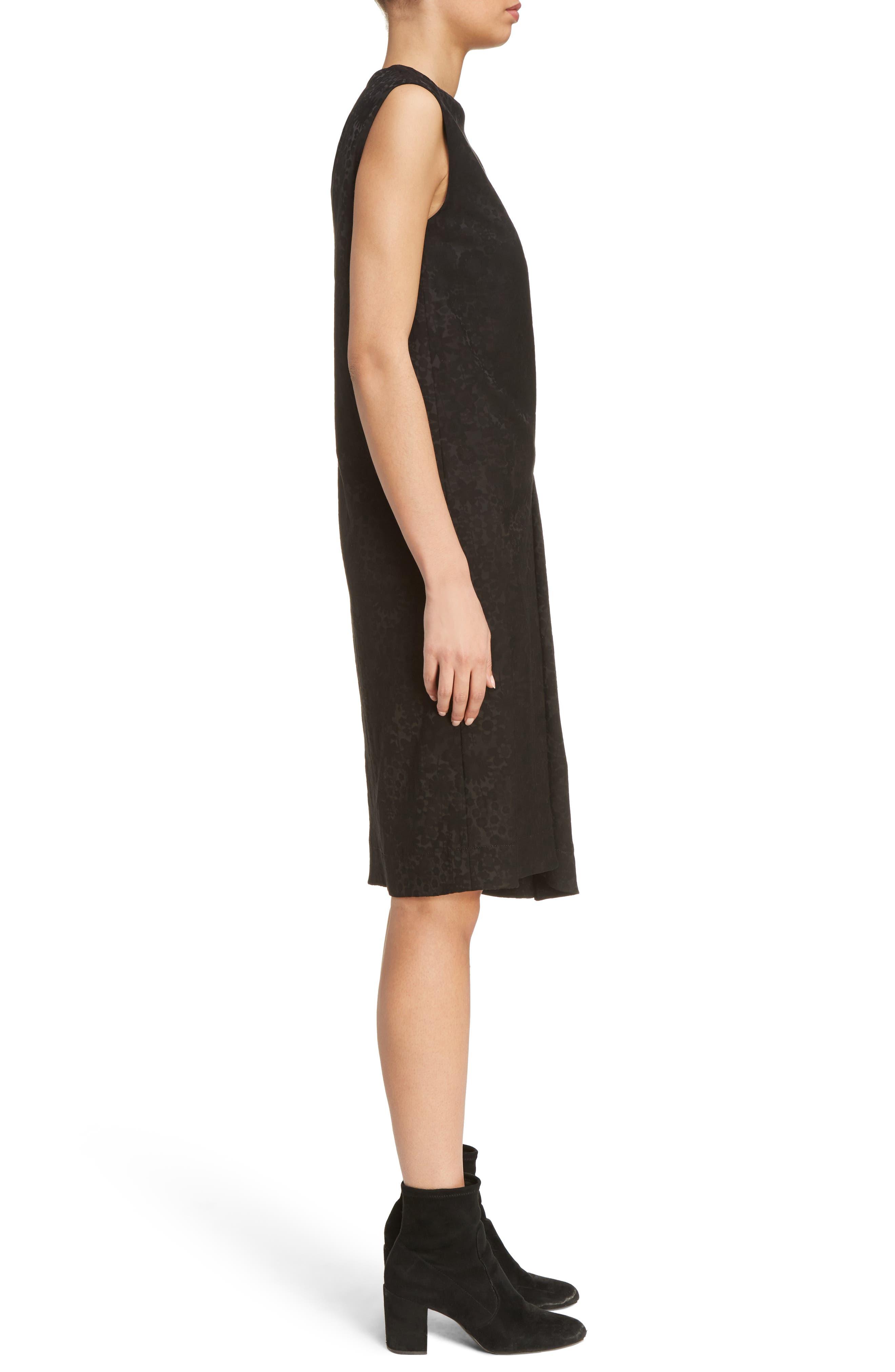 Danya Floral Asymmetrical Hem Dress,                             Alternate thumbnail 3, color,                             Black Floral