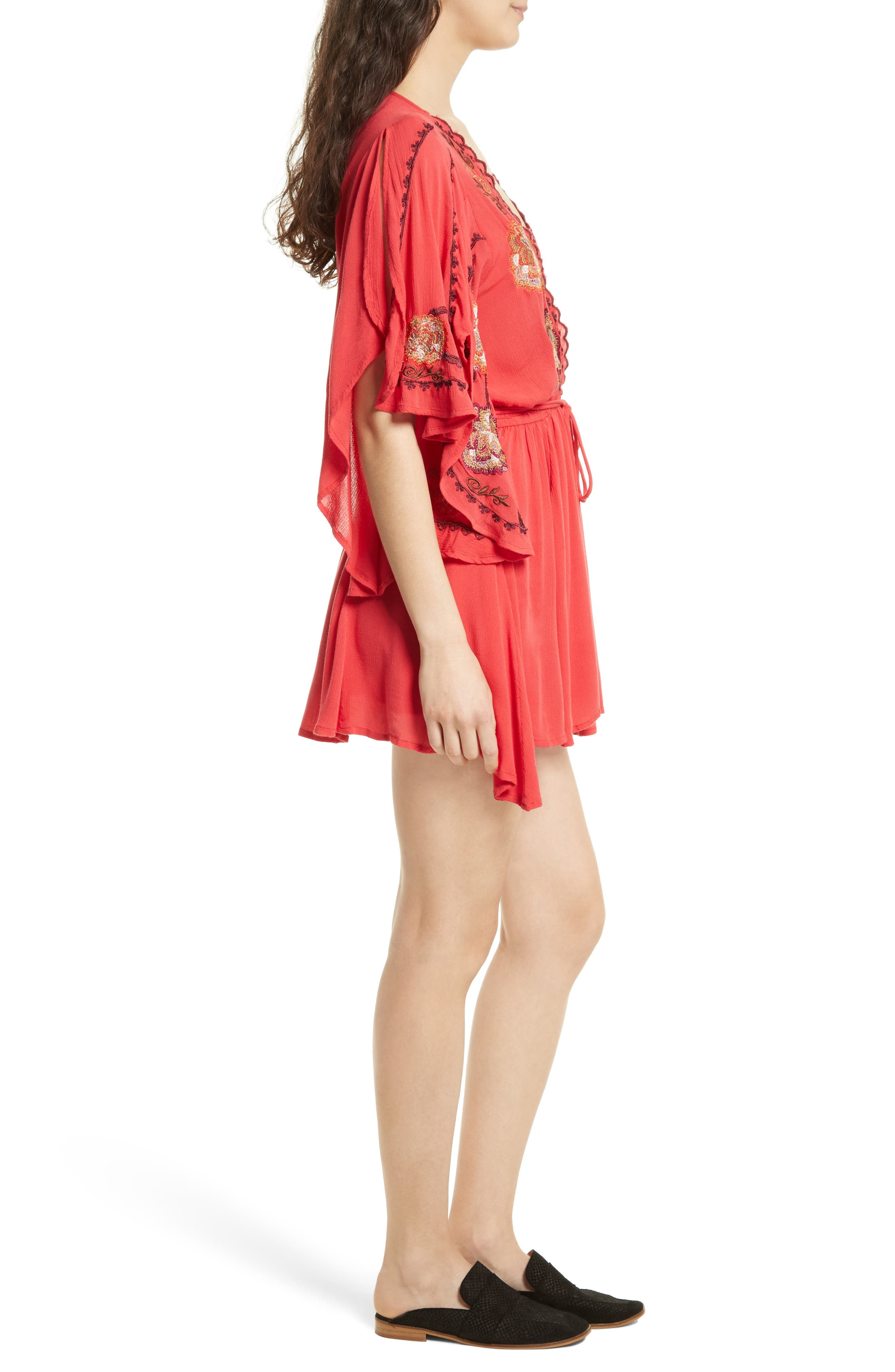 Alternate Image 3  - Free People Cora Embroidered Minidress
