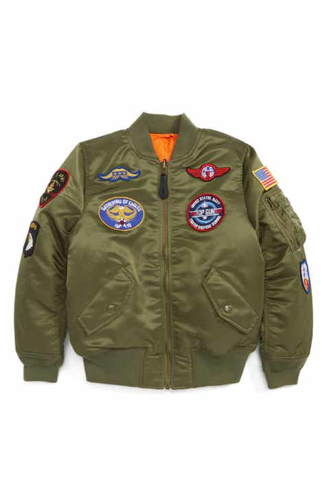 6757a0c77c4a Alpha Industries MA-1 Patch Flight Jacket (Toddler Boys
