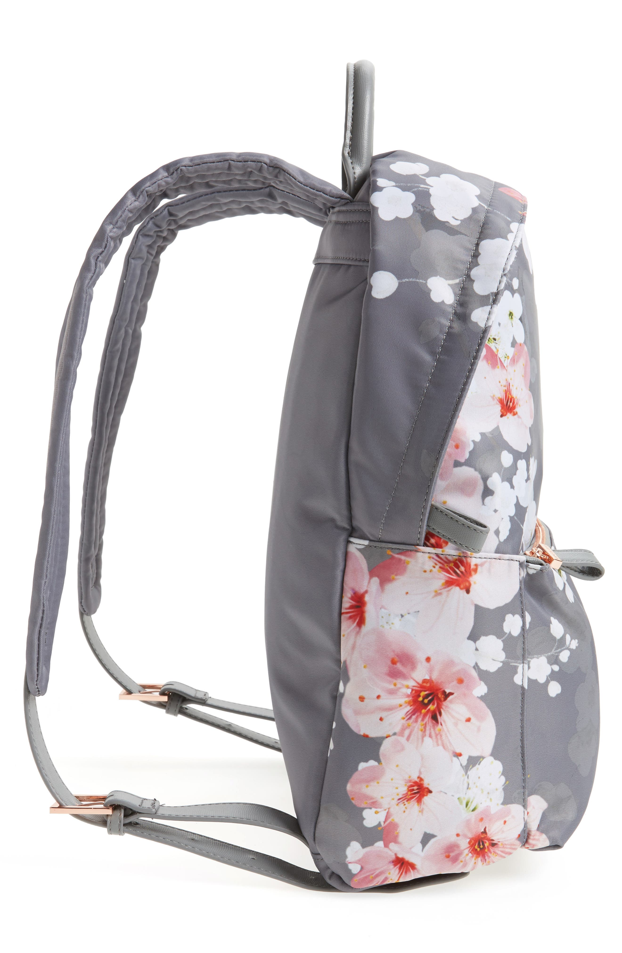 Olica Oriental Blossom Backpack,                             Alternate thumbnail 3, color,                             Light Grey