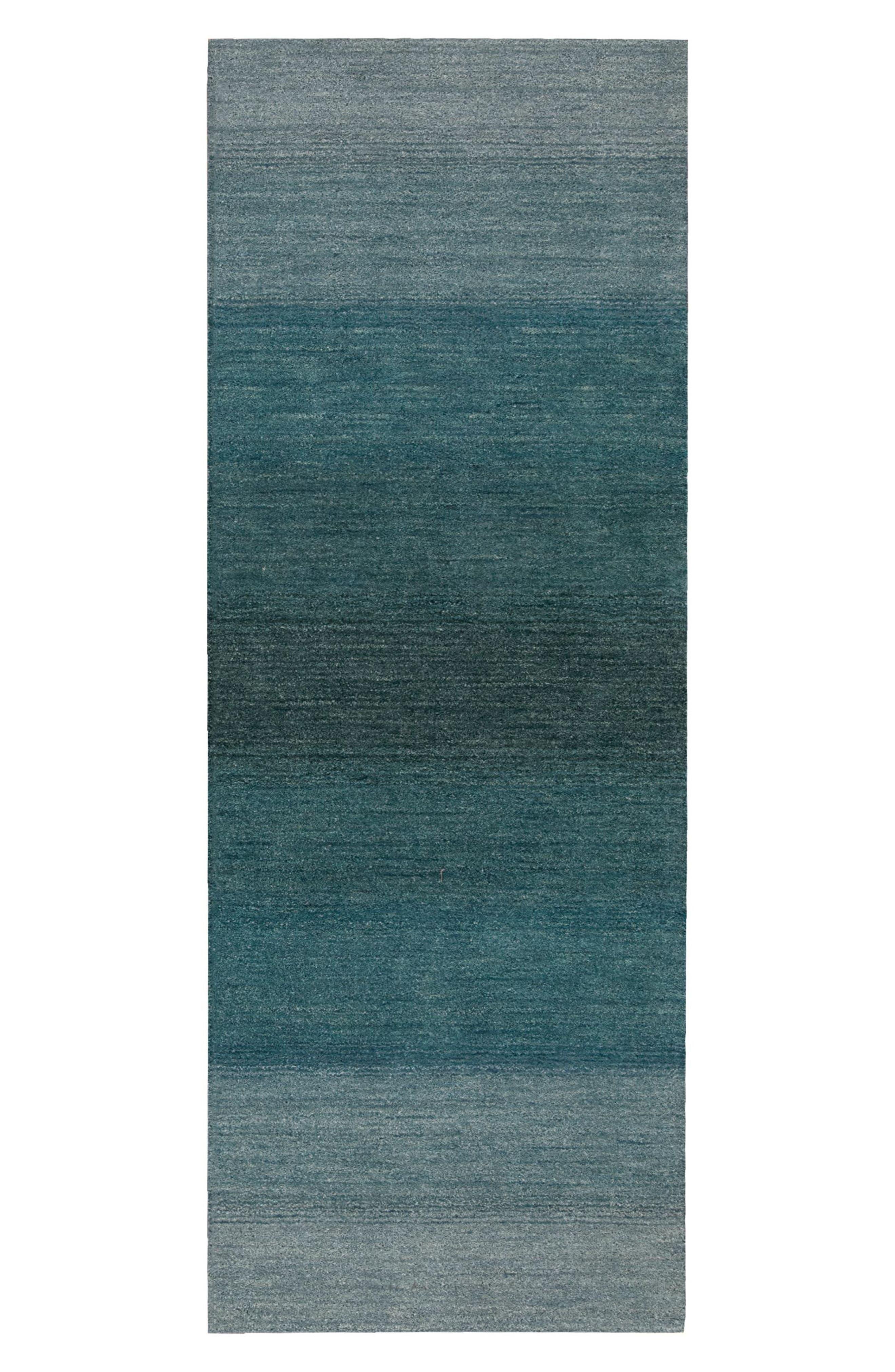 Alternate Image 2  - Calvin Klein Linear Glow Wool Rug