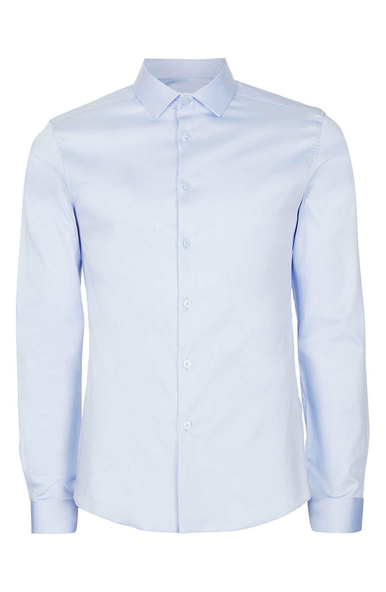 Alternate Image 7  - Topman Stretch Cotton Shirt
