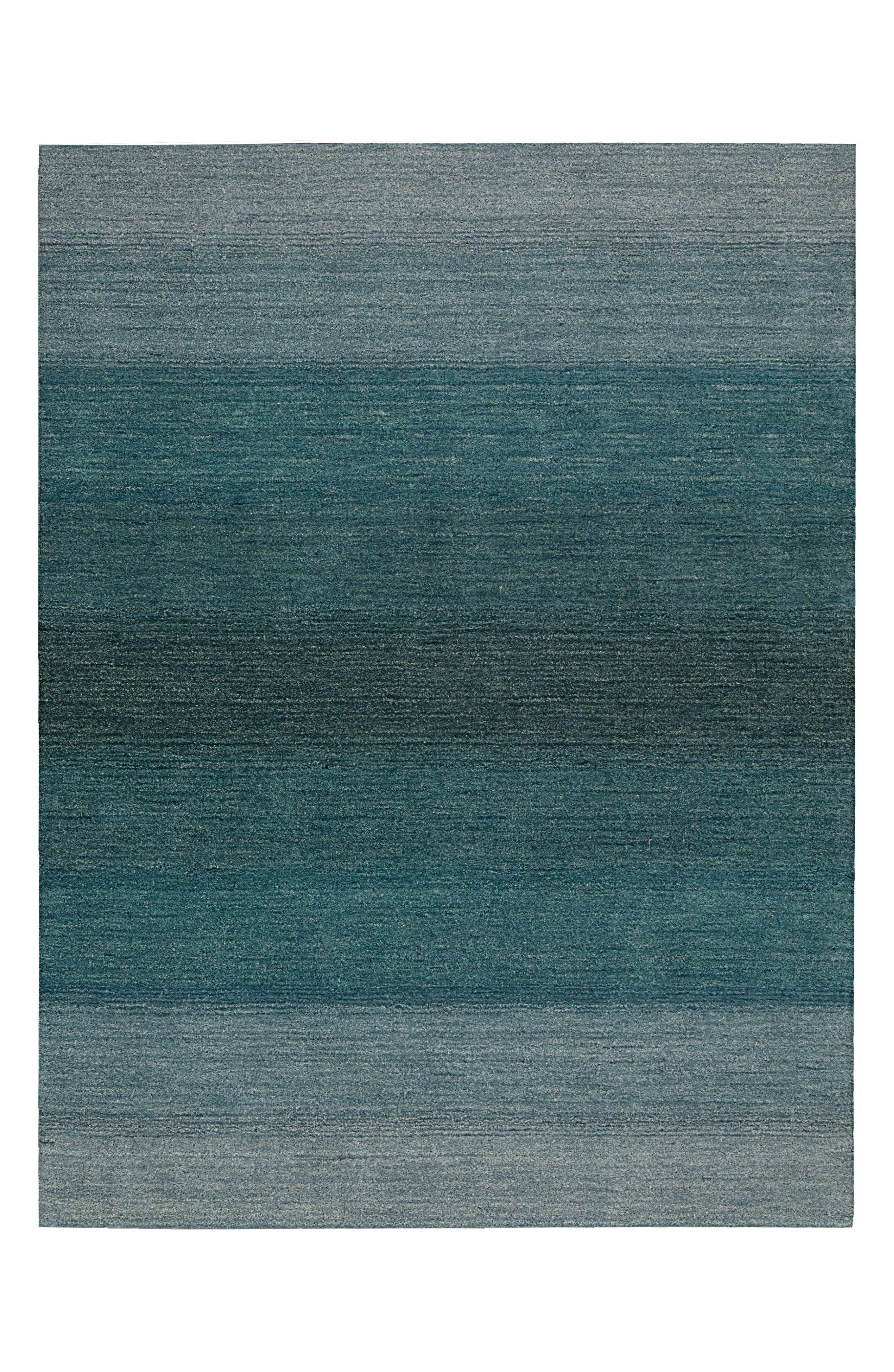 Linear Glow Wool Rug,                         Main,                         color, Aqua