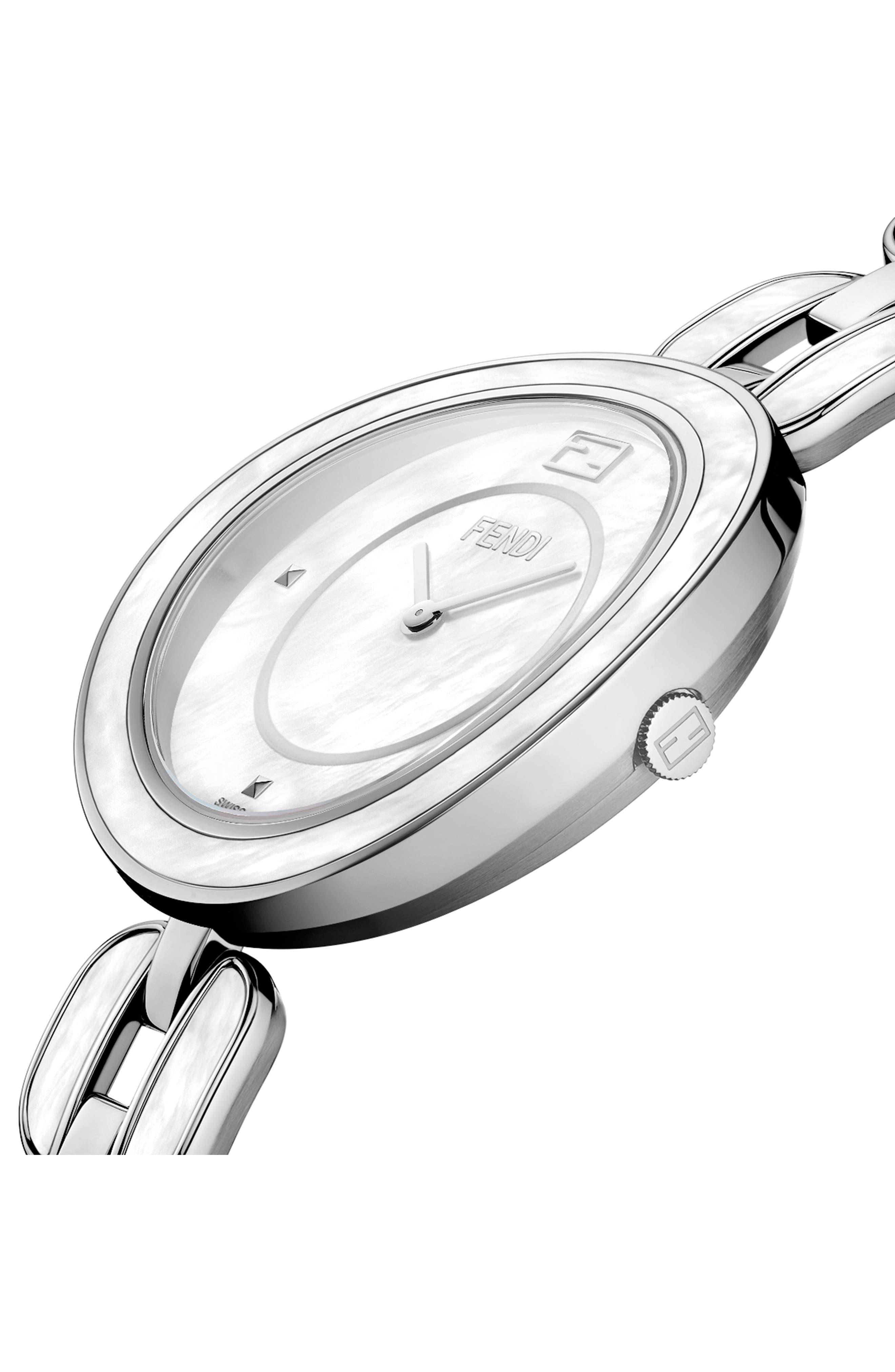 Alternate Image 3  - Fendi My Way Genuine Fox Fur Bracelet Watch, 36mm