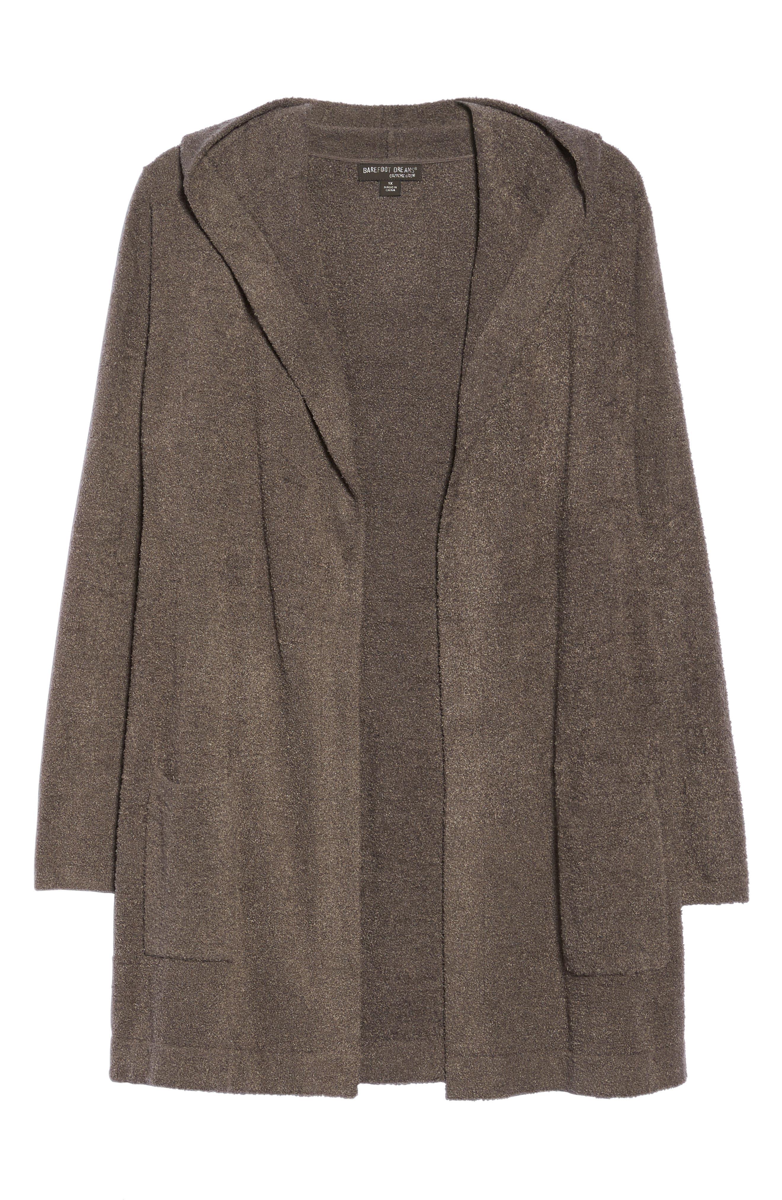 Alternate Image 4  - Barefoot Dreams® Cozychic Lite® Coastal Hooded Cardigan (Plus Size)