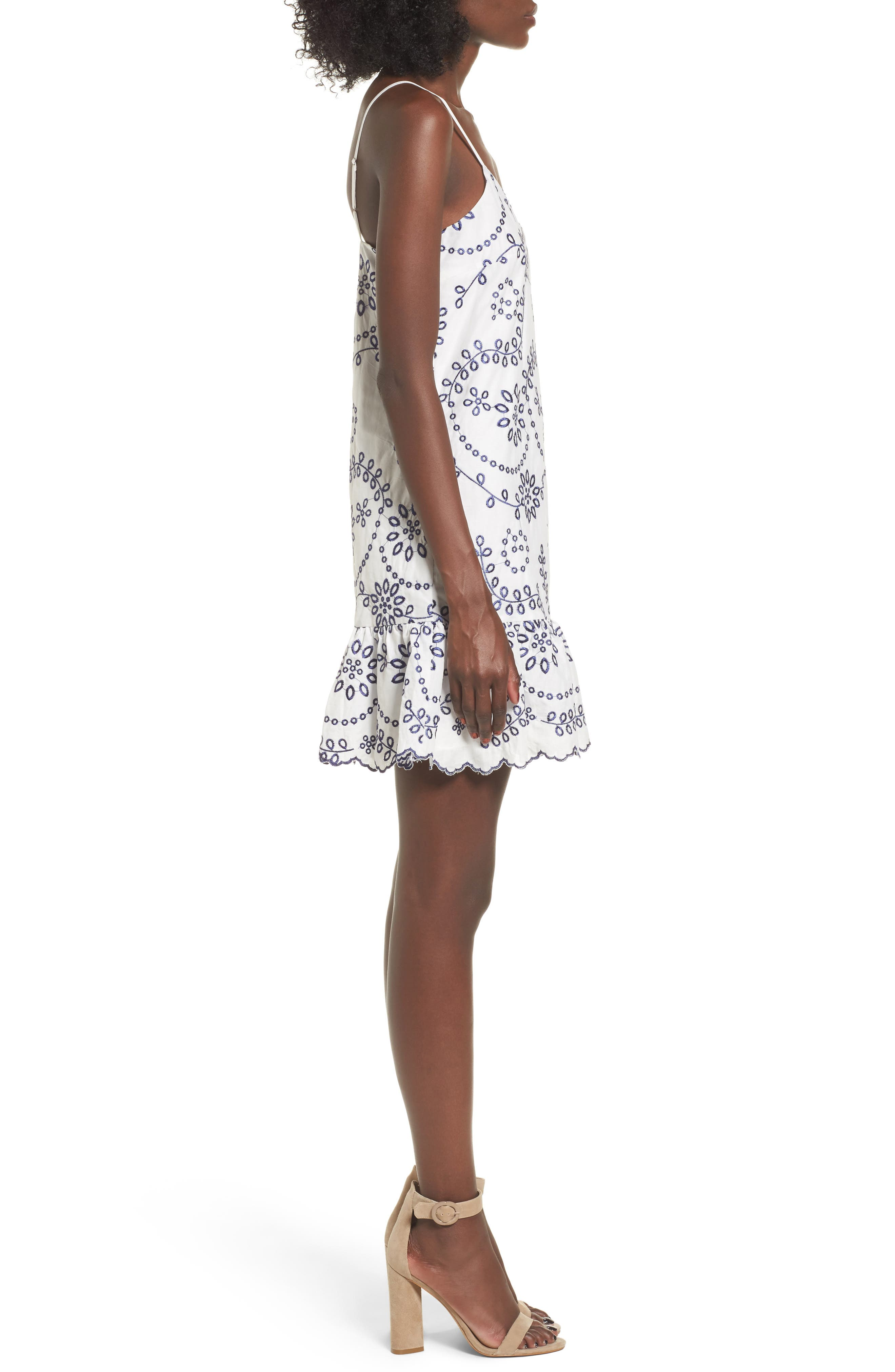 Alternate Image 5  - devlin Geneva Embroidered Cotton Slipdress