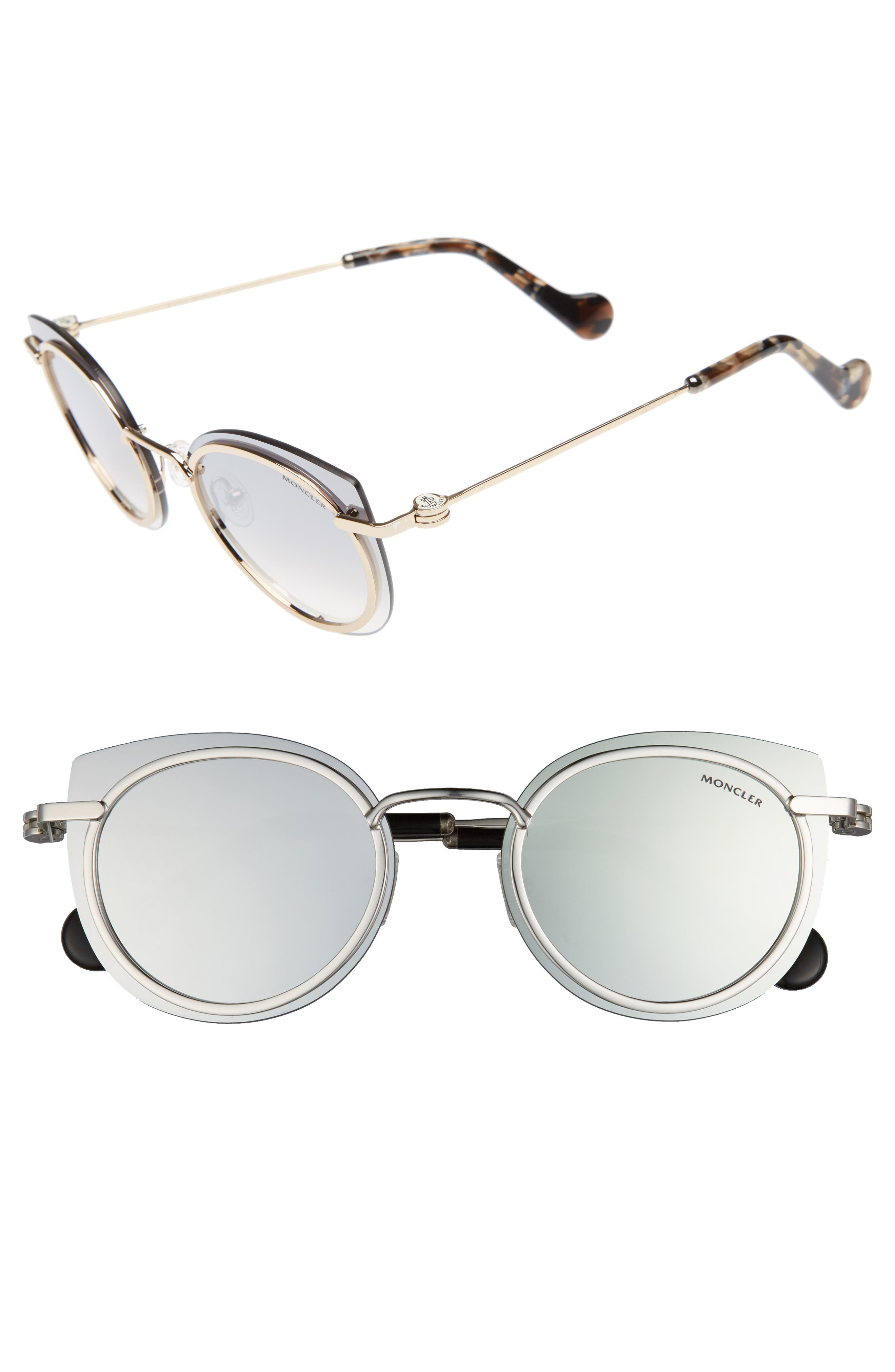 Moncler 56mm Mirrored Cat Eye Sunglasses