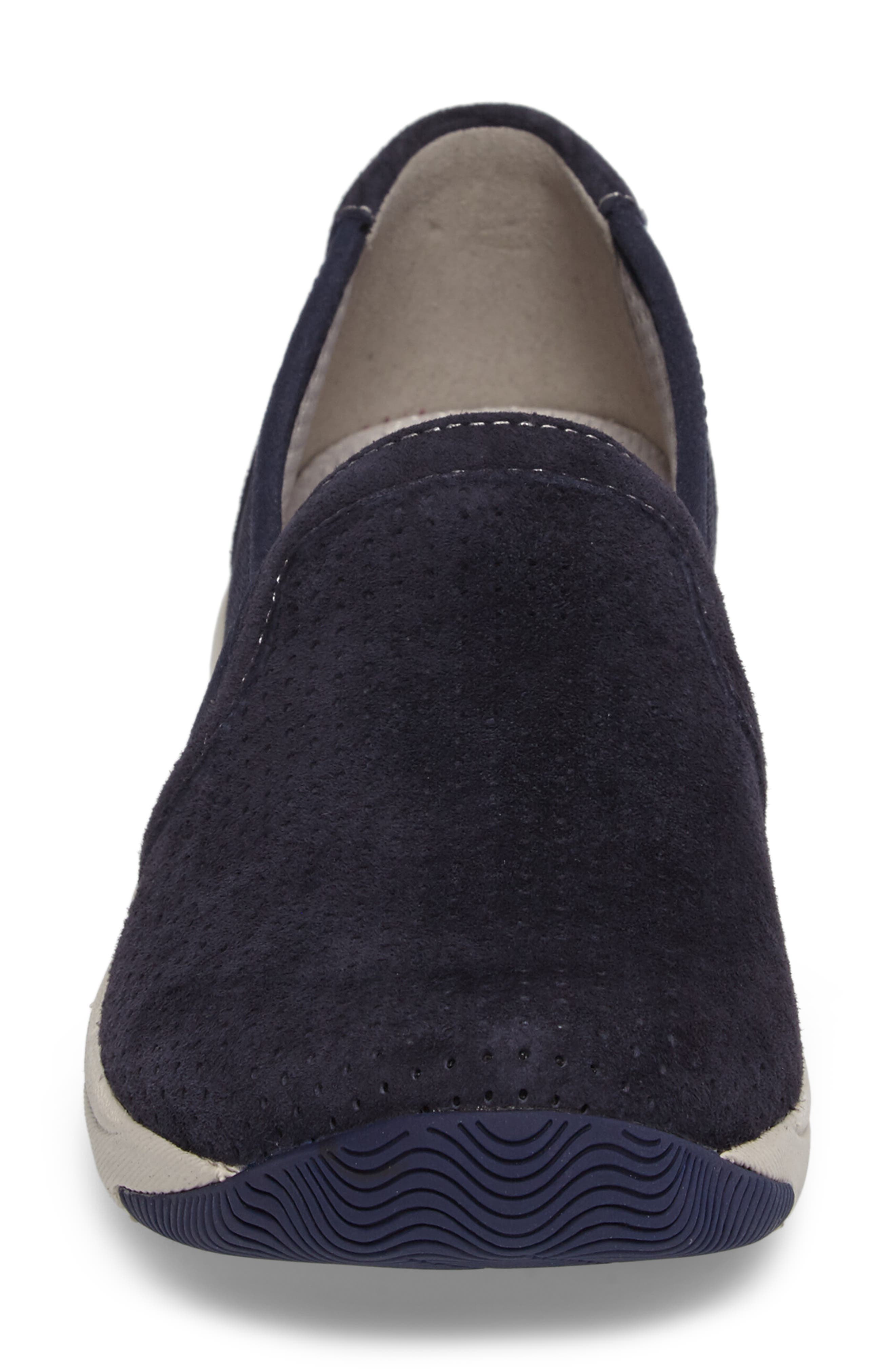 Halifax Collection Halle Slip-On Sneaker,                             Alternate thumbnail 4, color,                             Navy Suede