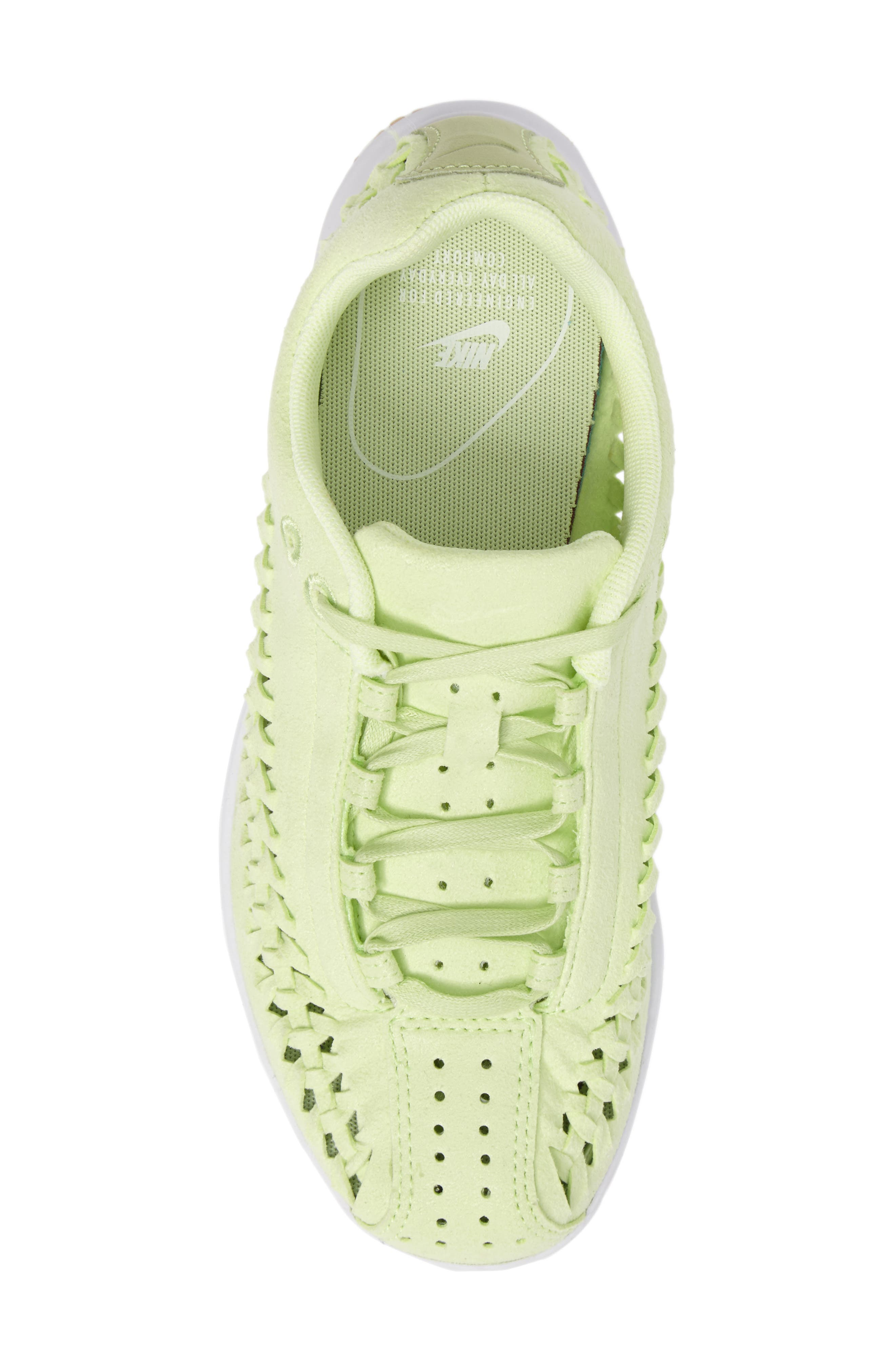 Mayfly Woven QS Sneaker,                             Alternate thumbnail 4, color,                             Liquid Lime/ Liquid Lime