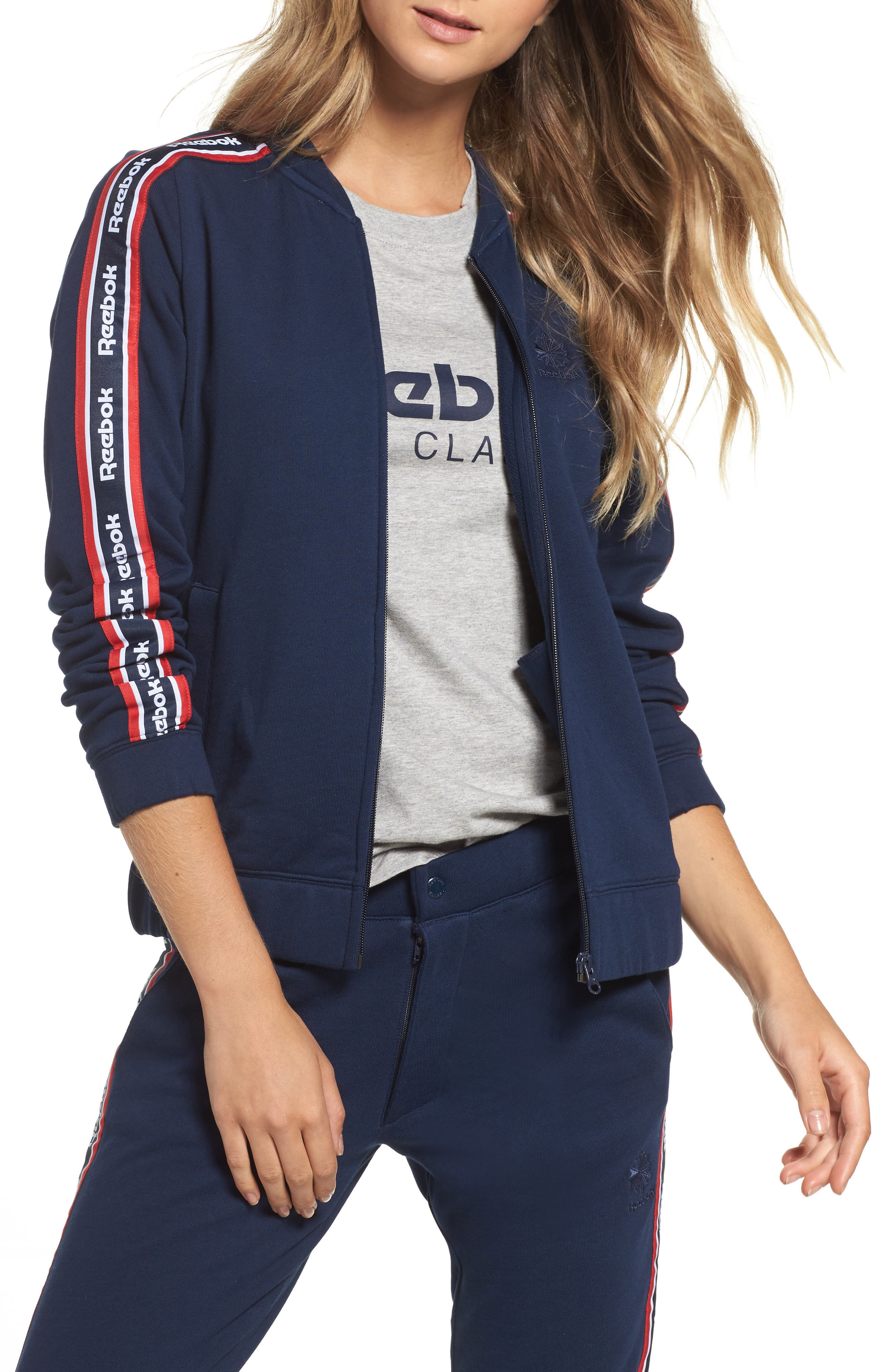 Alternate Image 1 Selected - Reebok Coach French Terry Jacket
