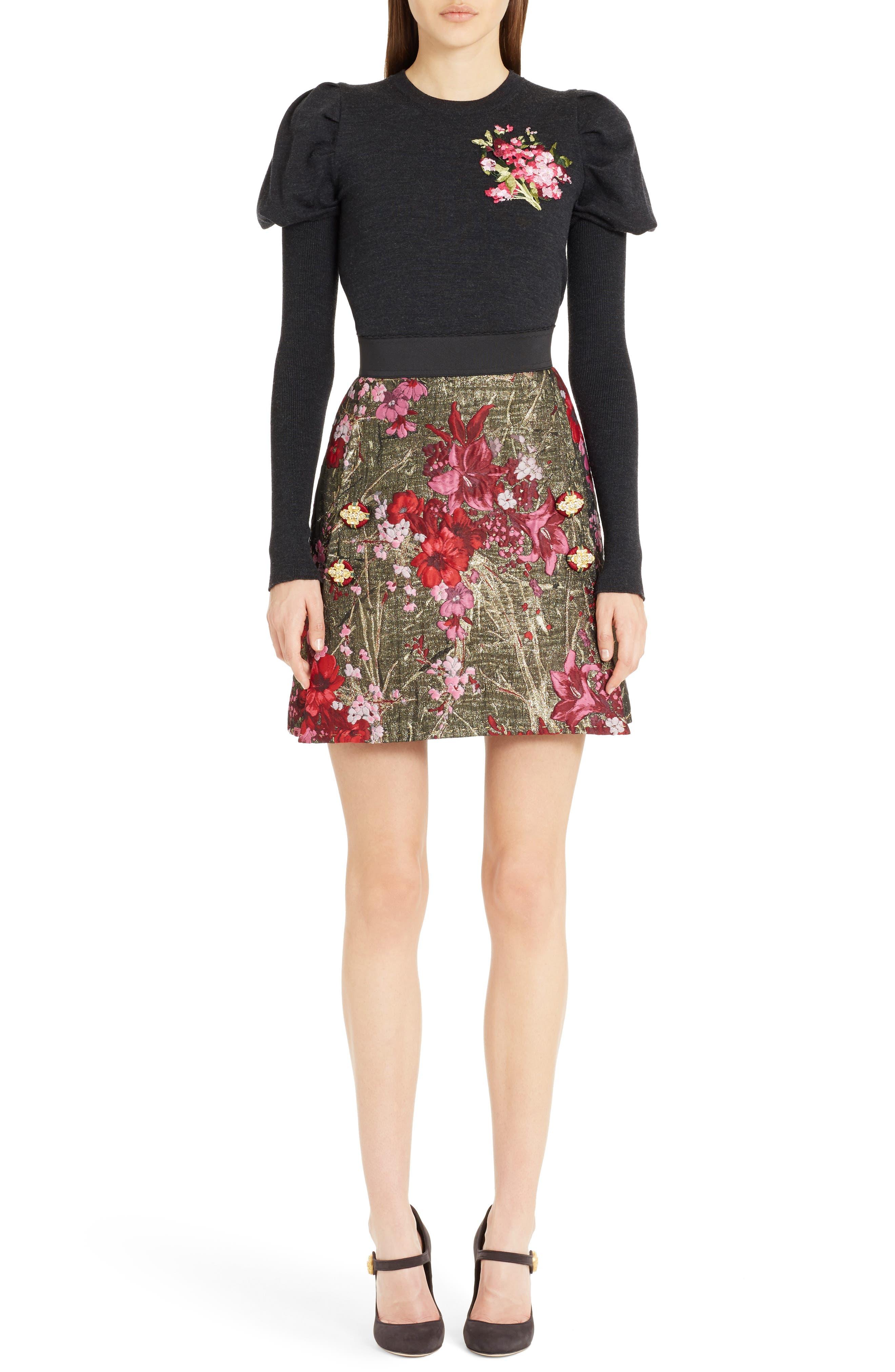 Alternate Image 8  - Dolce&Gabbana Metallic Jacquard Miniskirt