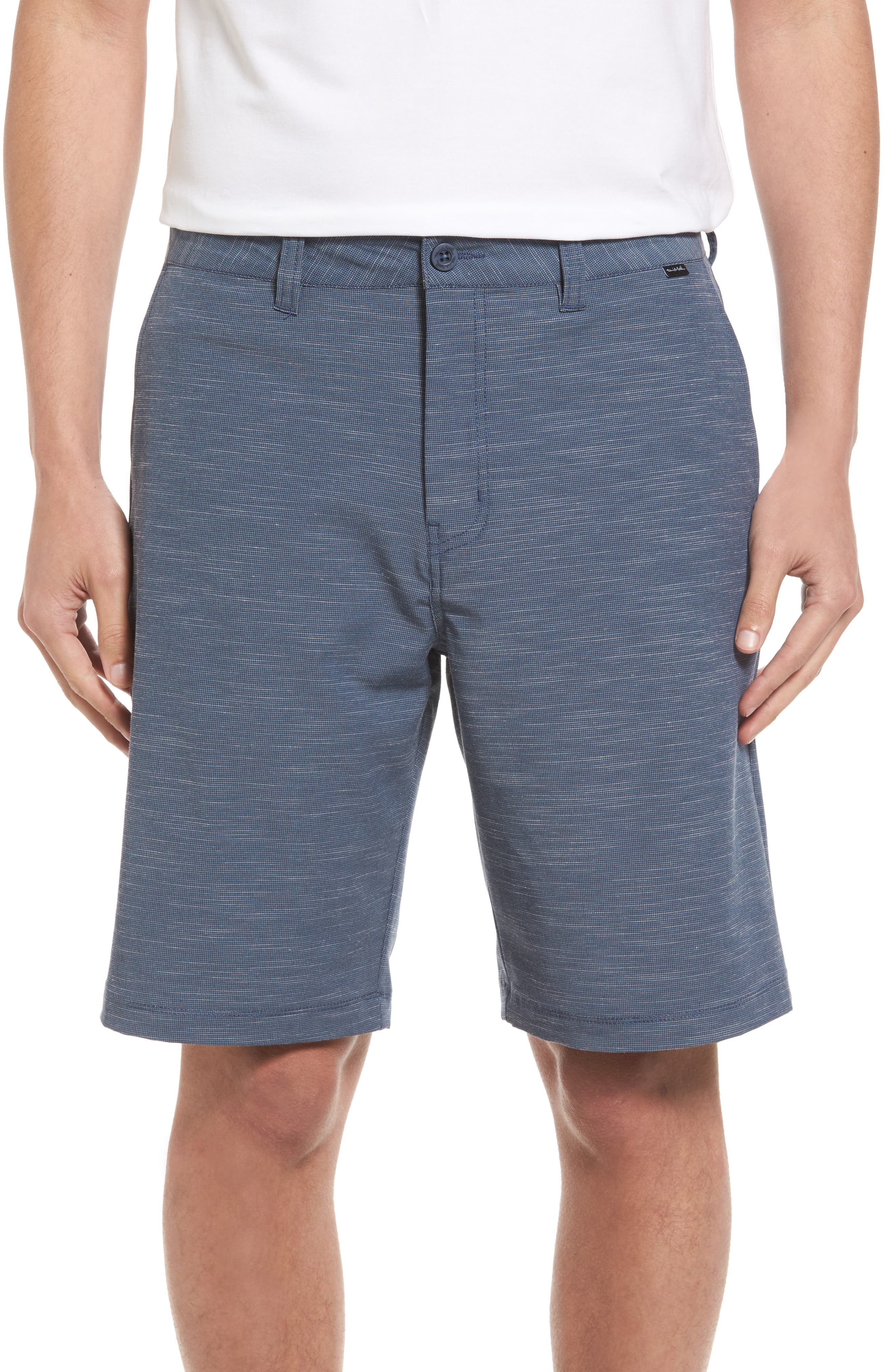 Fisher Shorts,                         Main,                         color, Heather Blue Nights