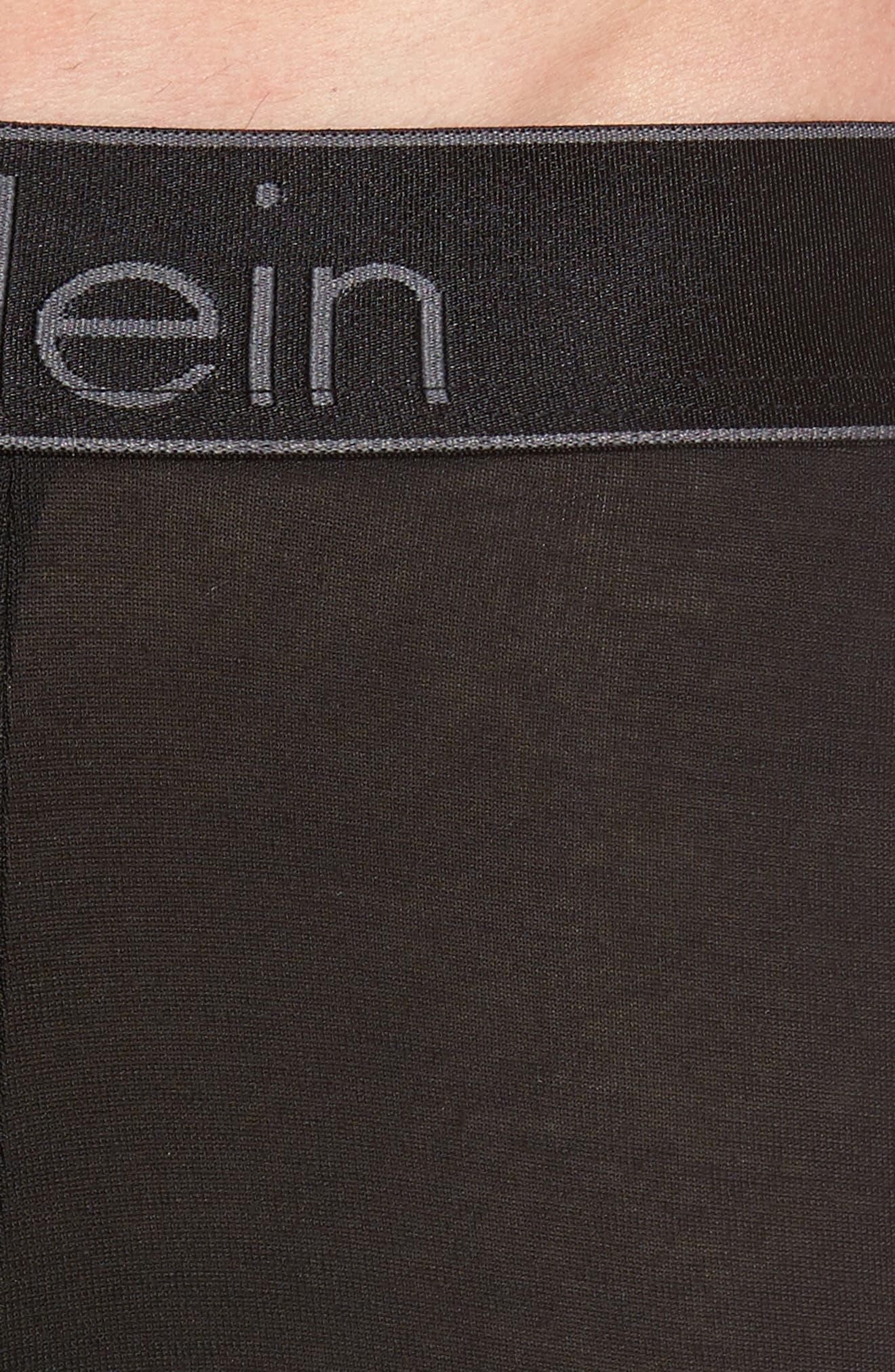 Modern Stretch Modal Trunks,                             Alternate thumbnail 4, color,                             Black