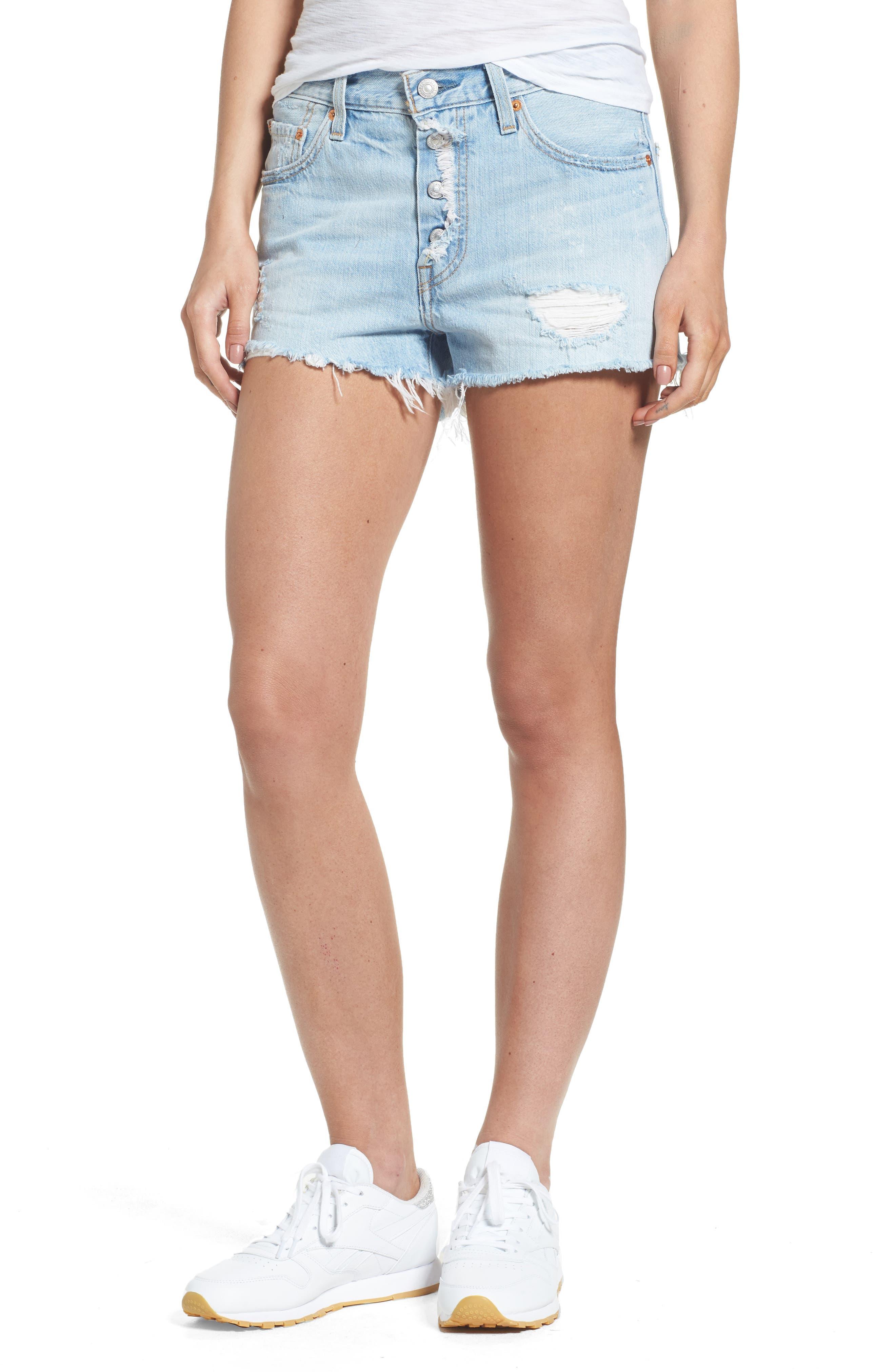 Levi's® 501® Cutoff Denim Shorts (North Beach Noise)