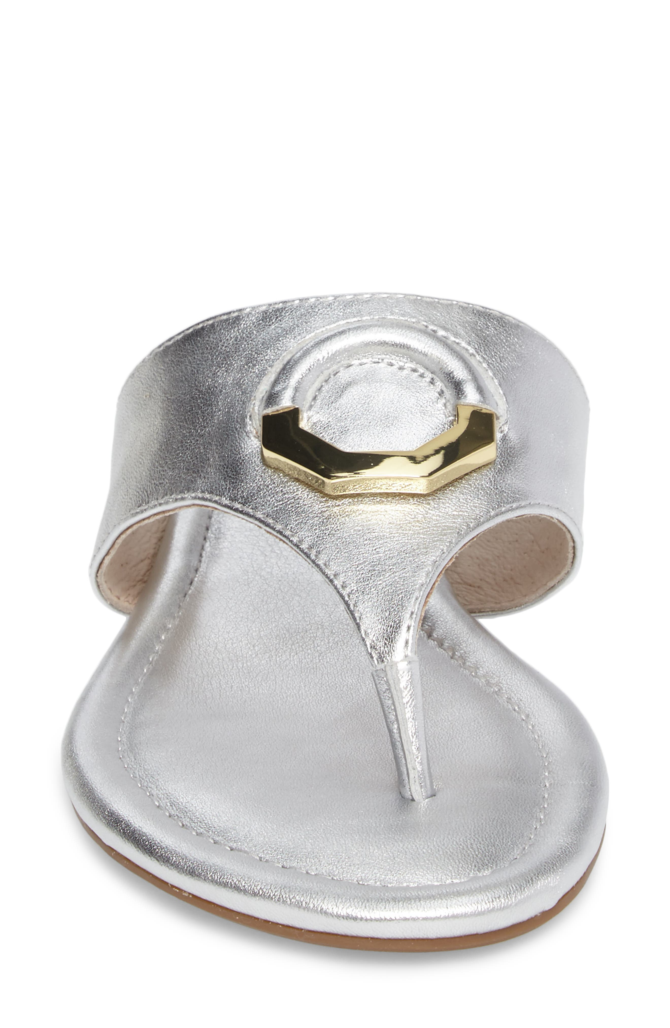 Adana Flip Flop,                             Alternate thumbnail 4, color,                             Sterling Leather