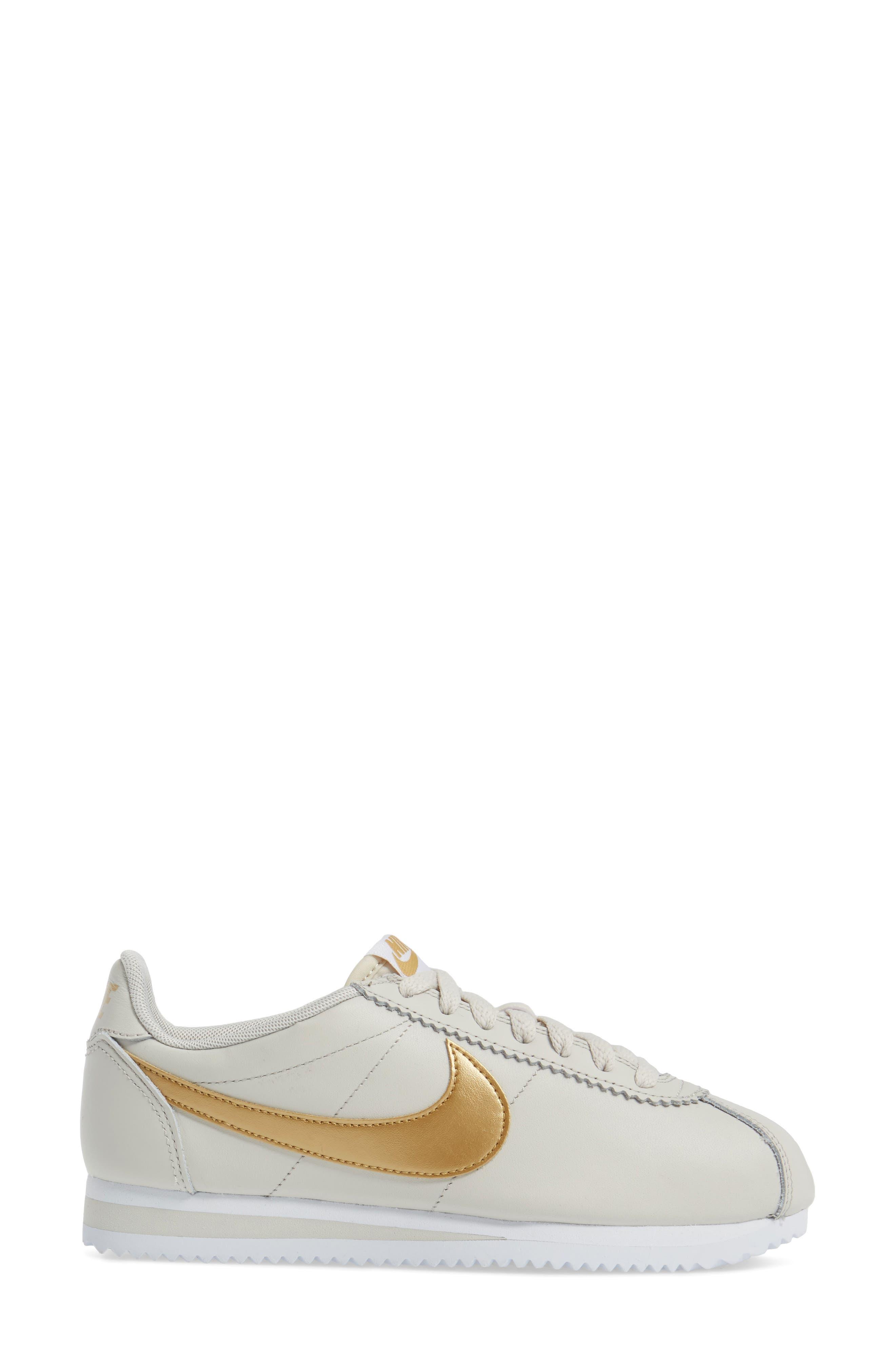'Classic Cortez' Sneaker,                             Alternate thumbnail 2, color,                             Bone