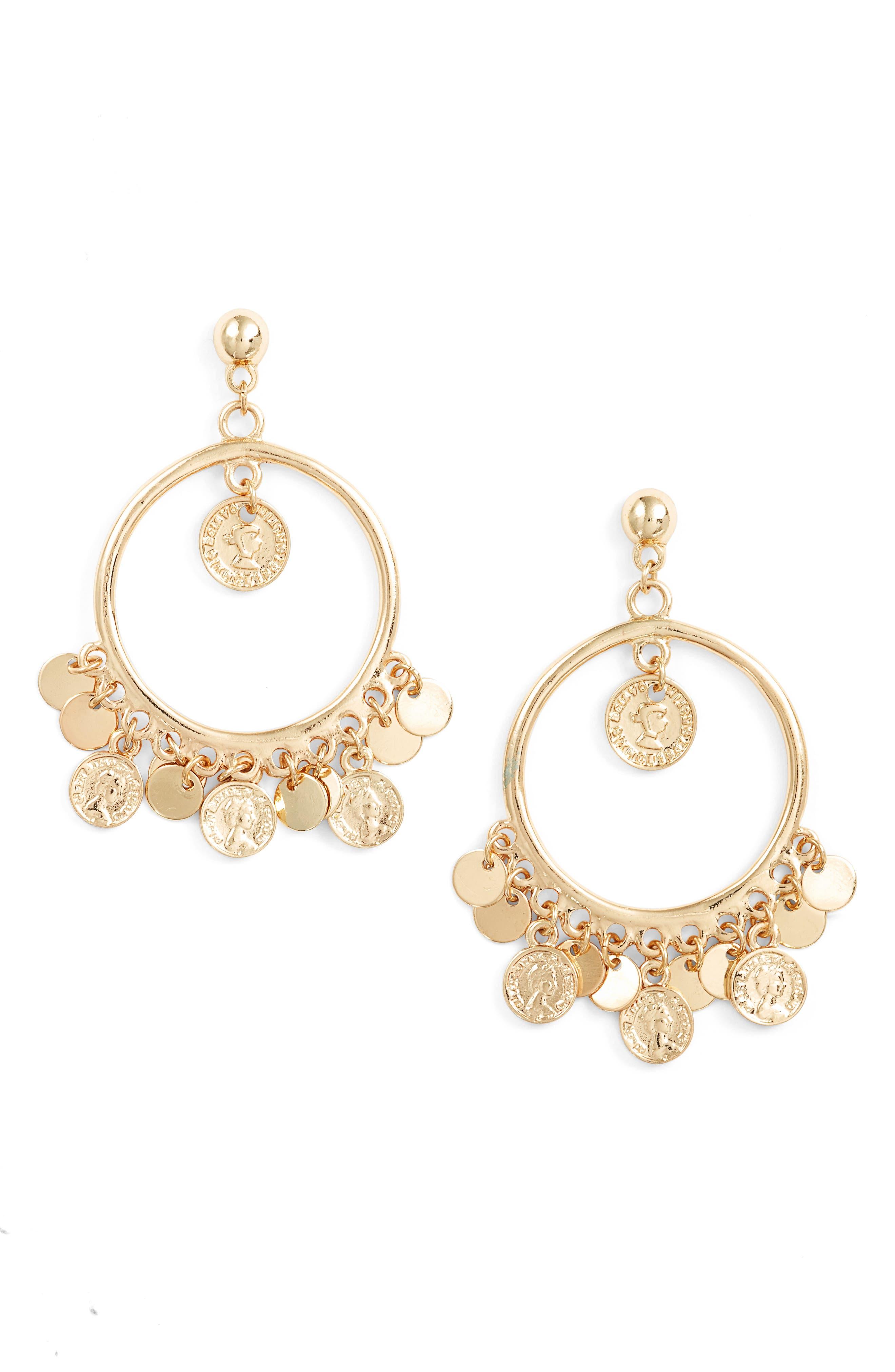 ETTIKA Coin Hoop Earrings