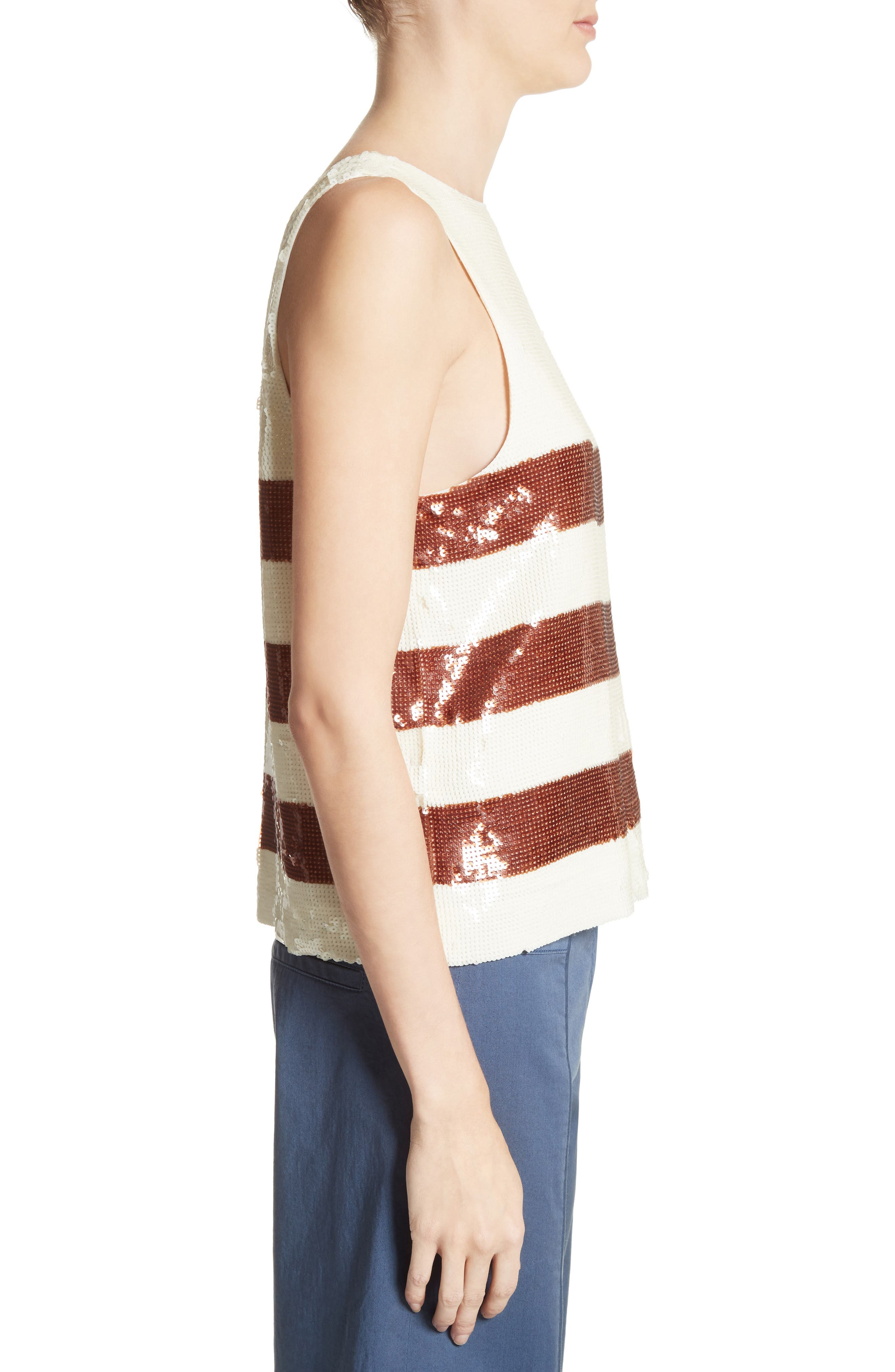 Marigold Sequin Tank,                             Alternate thumbnail 4, color,                             Bronze/ Ivory