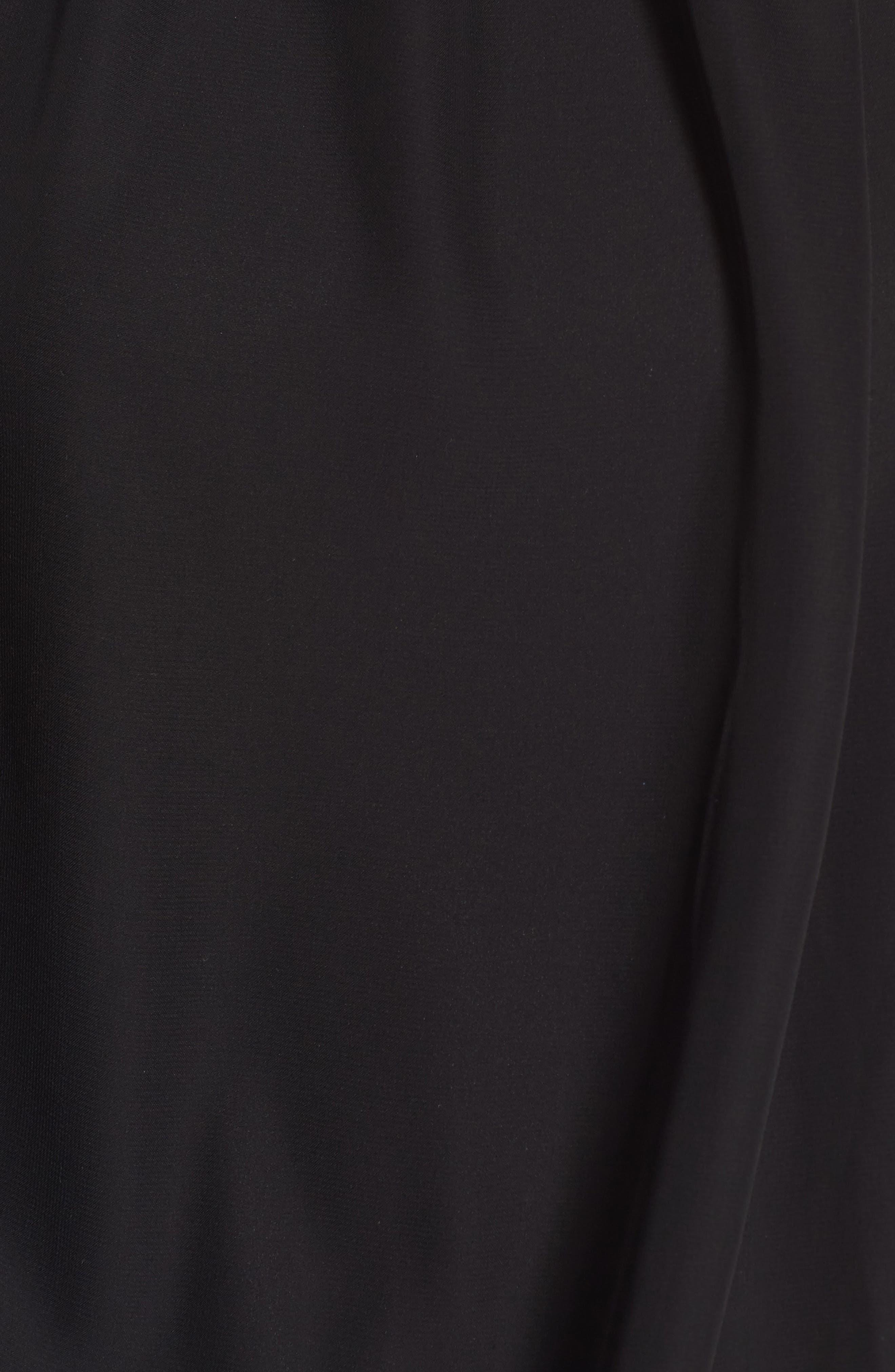 Halter Chiffon Jumpsuit,                             Alternate thumbnail 5, color,                             Black