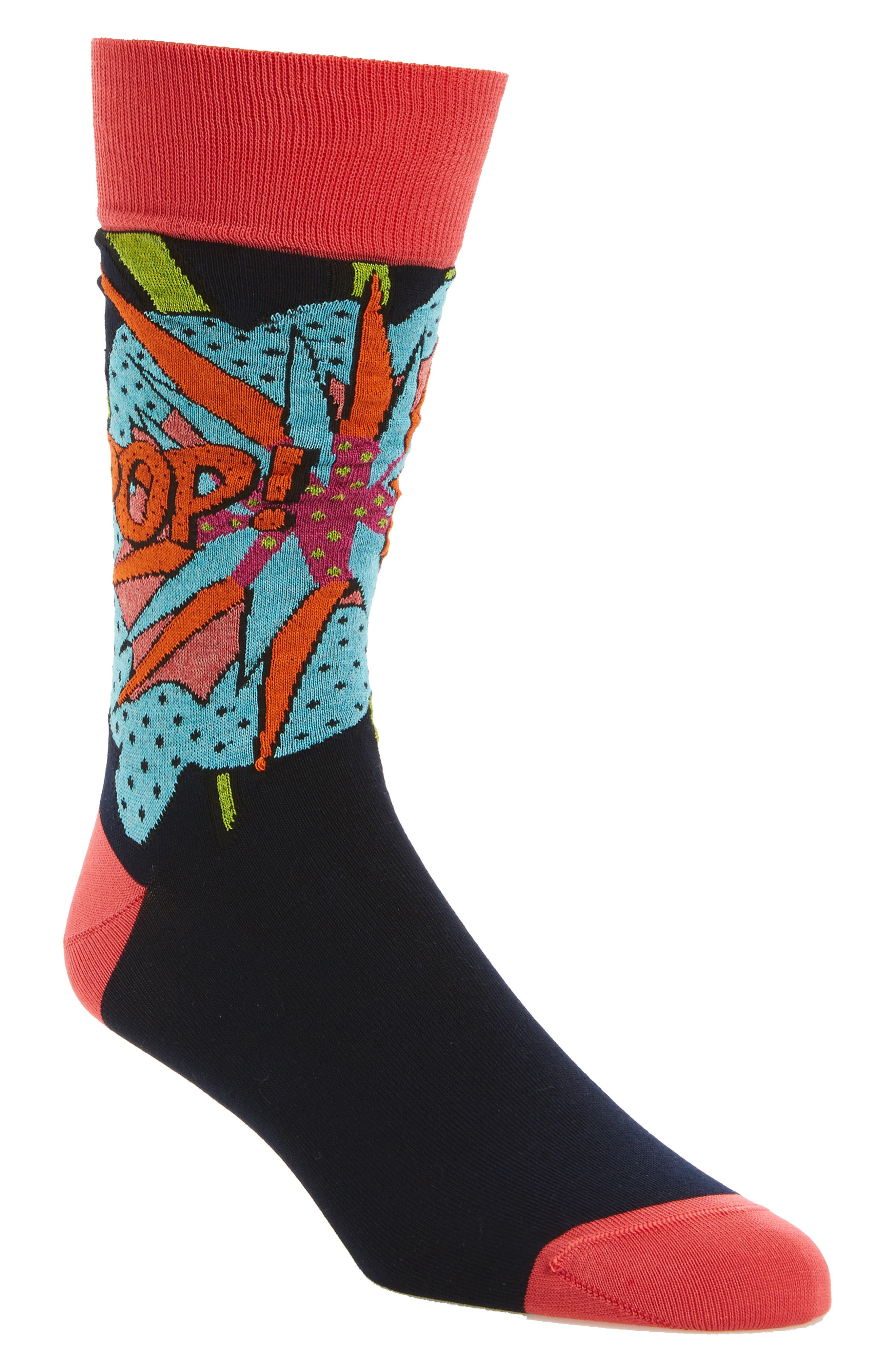 Main Image - Bugatchi Pop Crew Socks