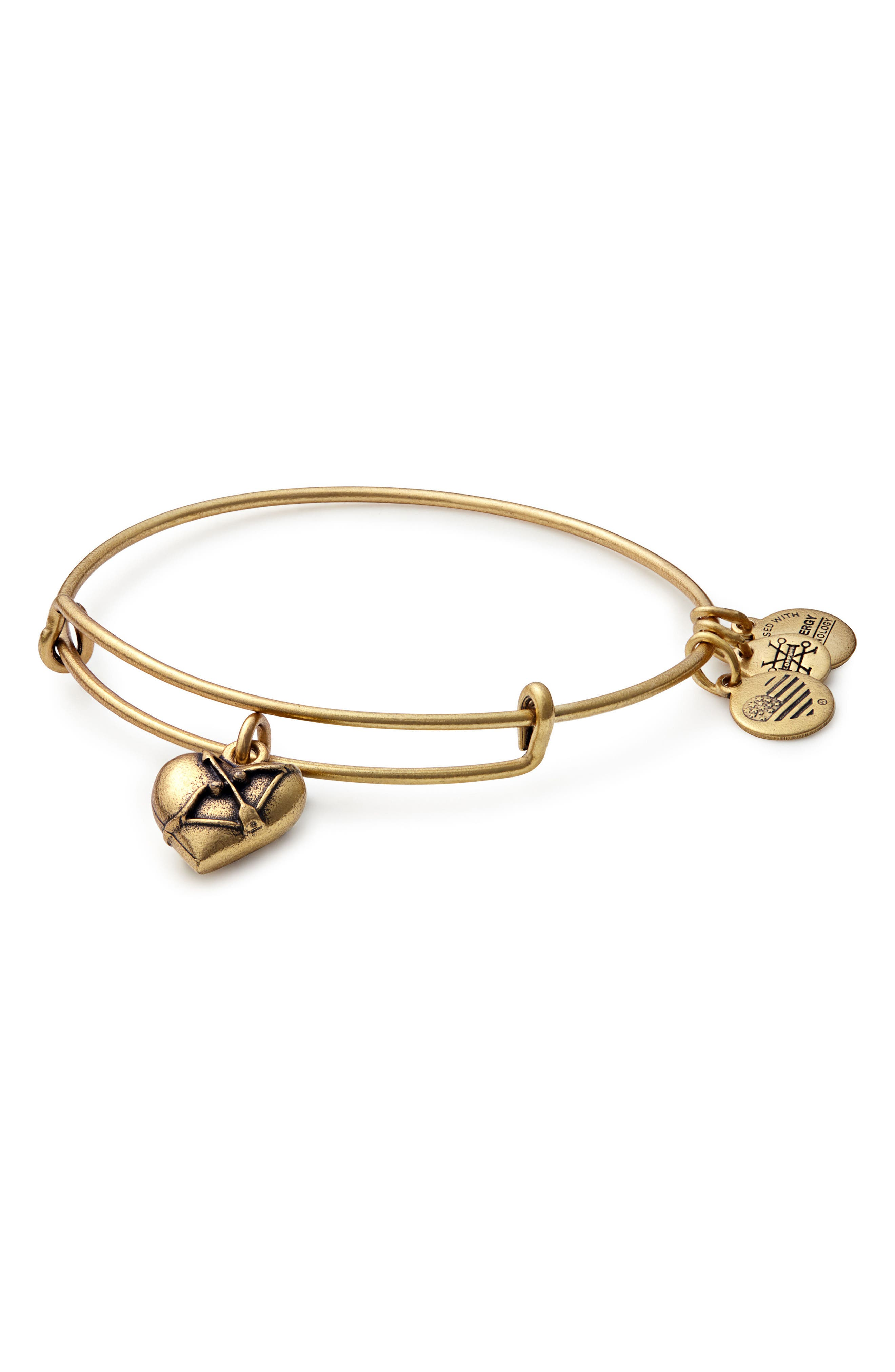 Alex and Ani Cupid's Heart Expandable Charm Bracelet